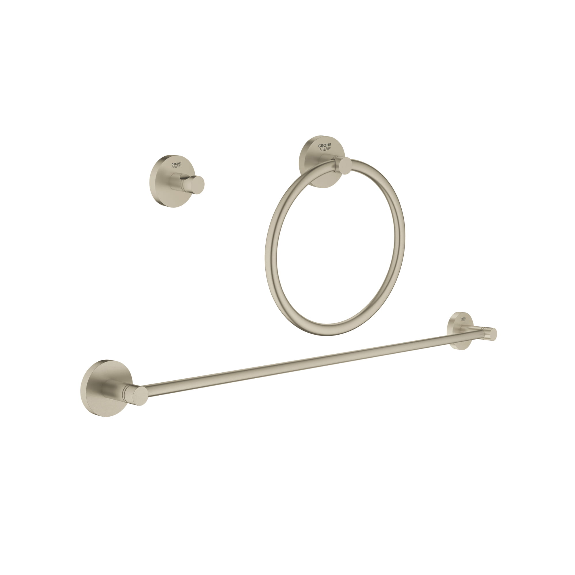Essentials Ensemble pour salle de bain urbaine 3 en 1 GROHE BRUSHED NICKEL