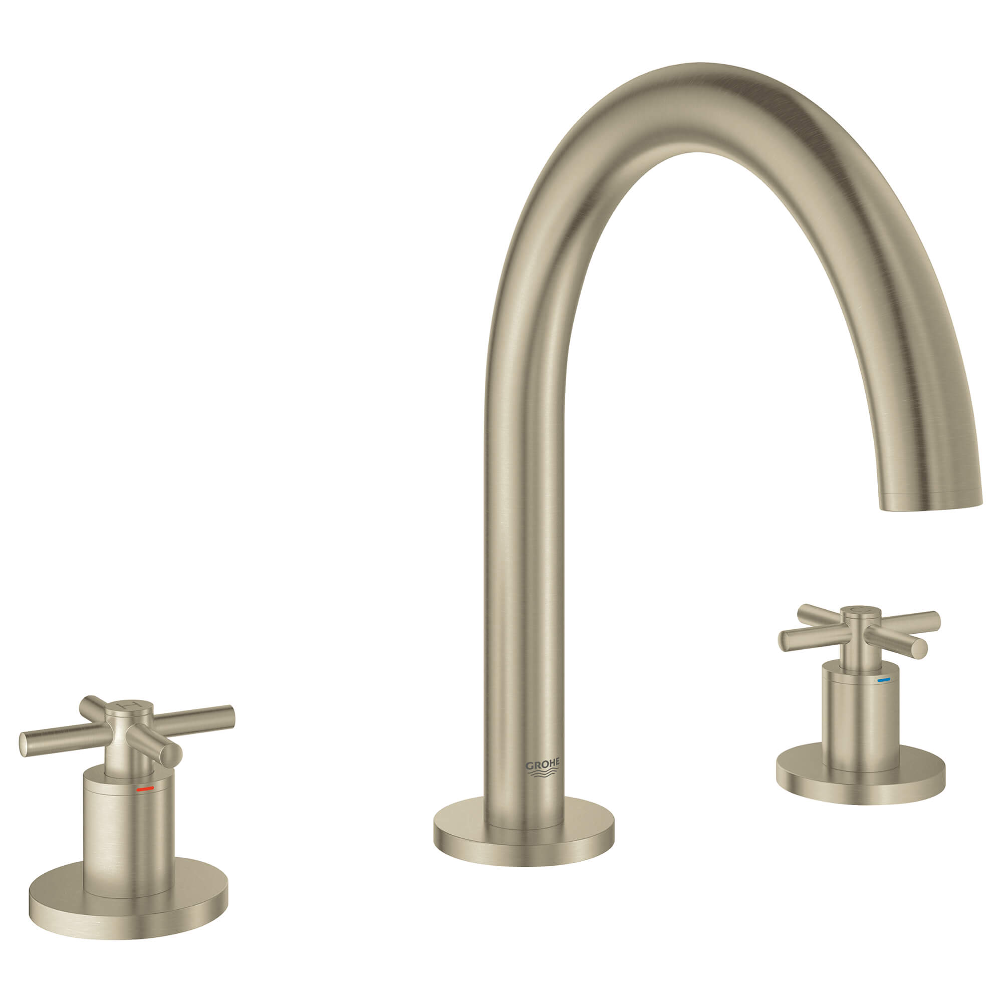 Manettes en croix la paire GROHE BRUSHED NICKEL