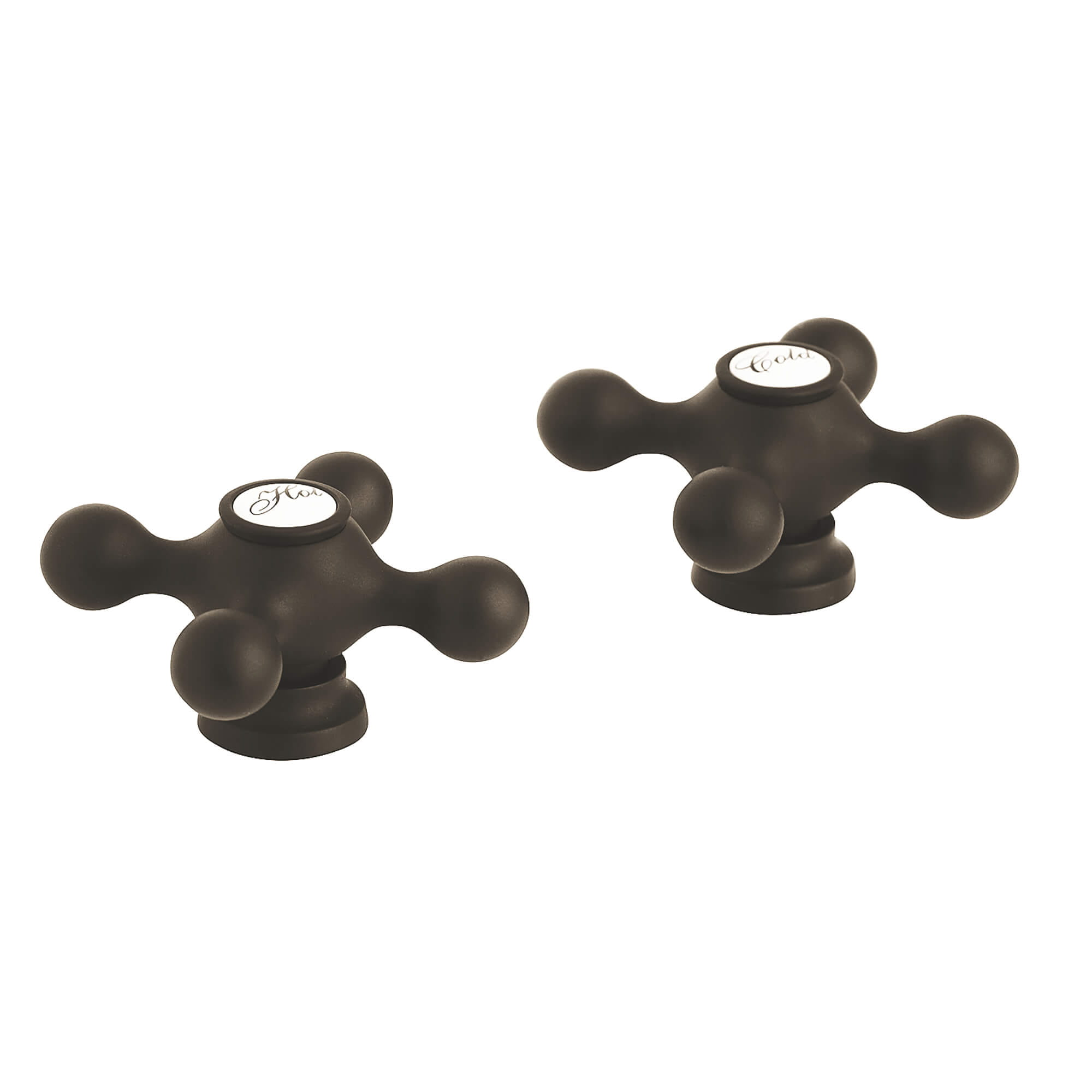 Cross Handles Pair GROHE OIL RUBBED BRONZE