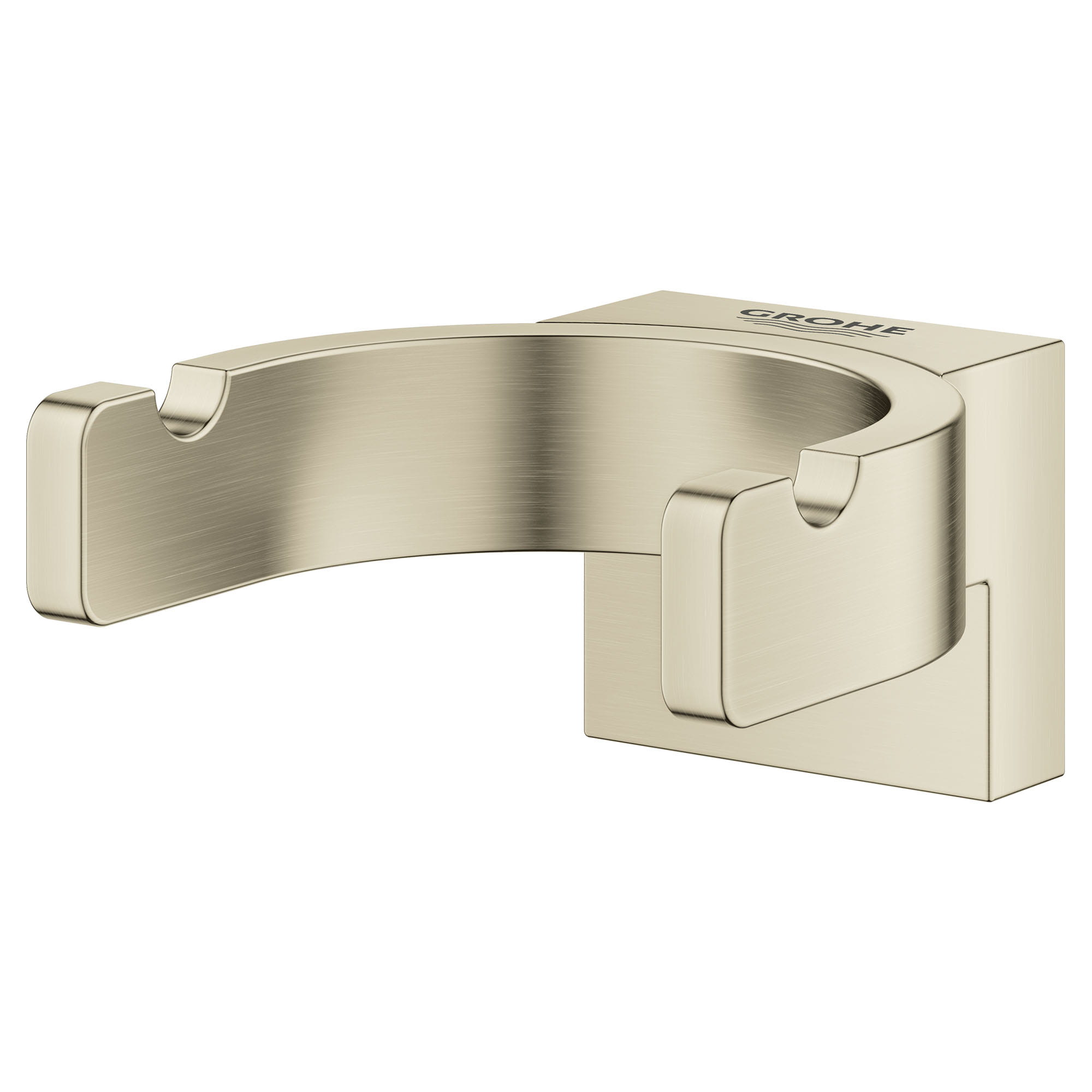 Crochet double pour peignoirs GROHE BRUSHED NICKEL