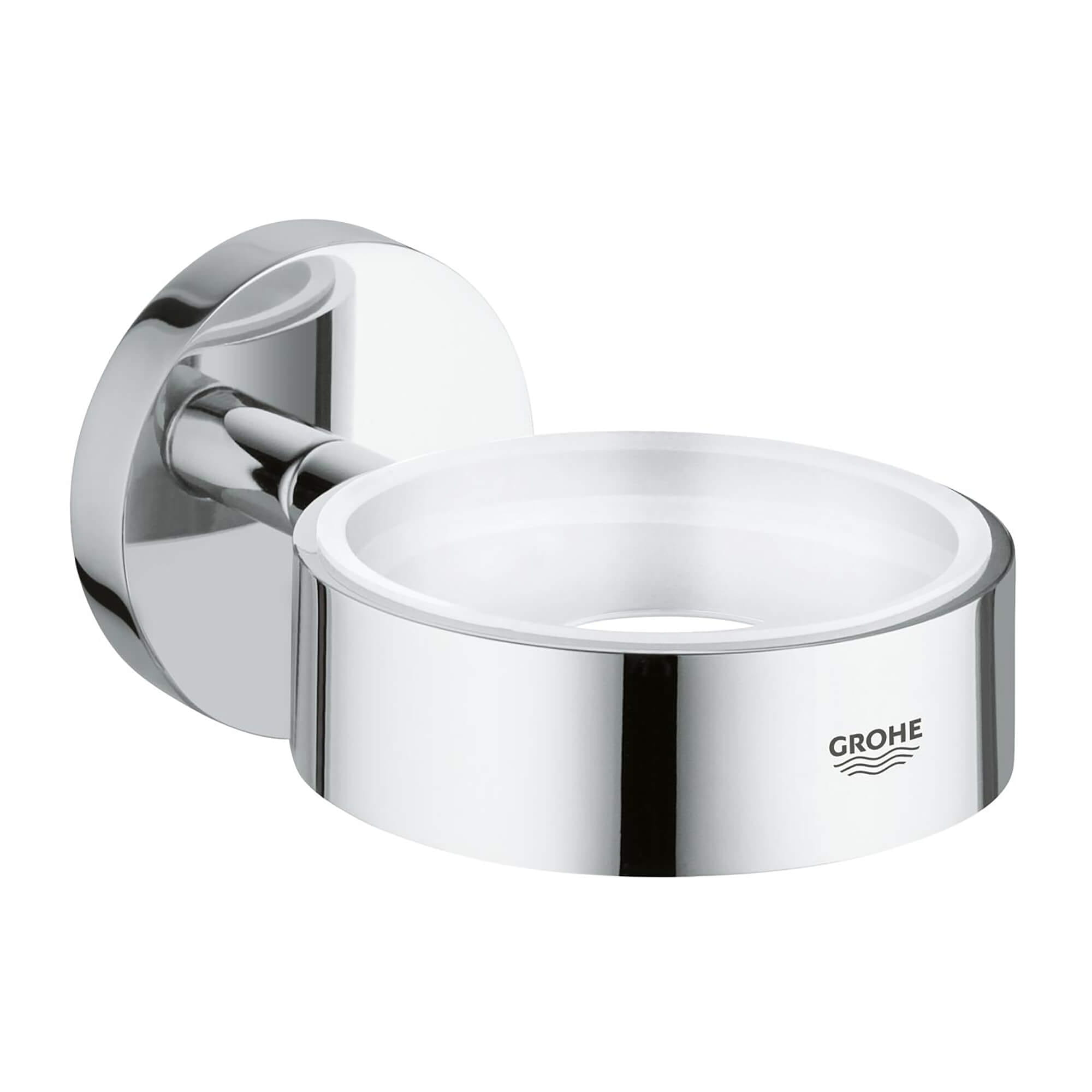 Holder FGlas Soap Dish Disp GROHE CHROME