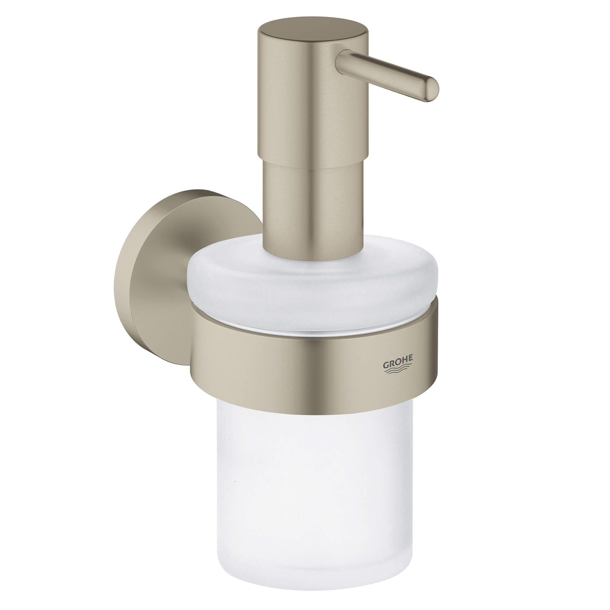 Essentials Distributeur à savon avec support GROHE BRUSHED NICKEL