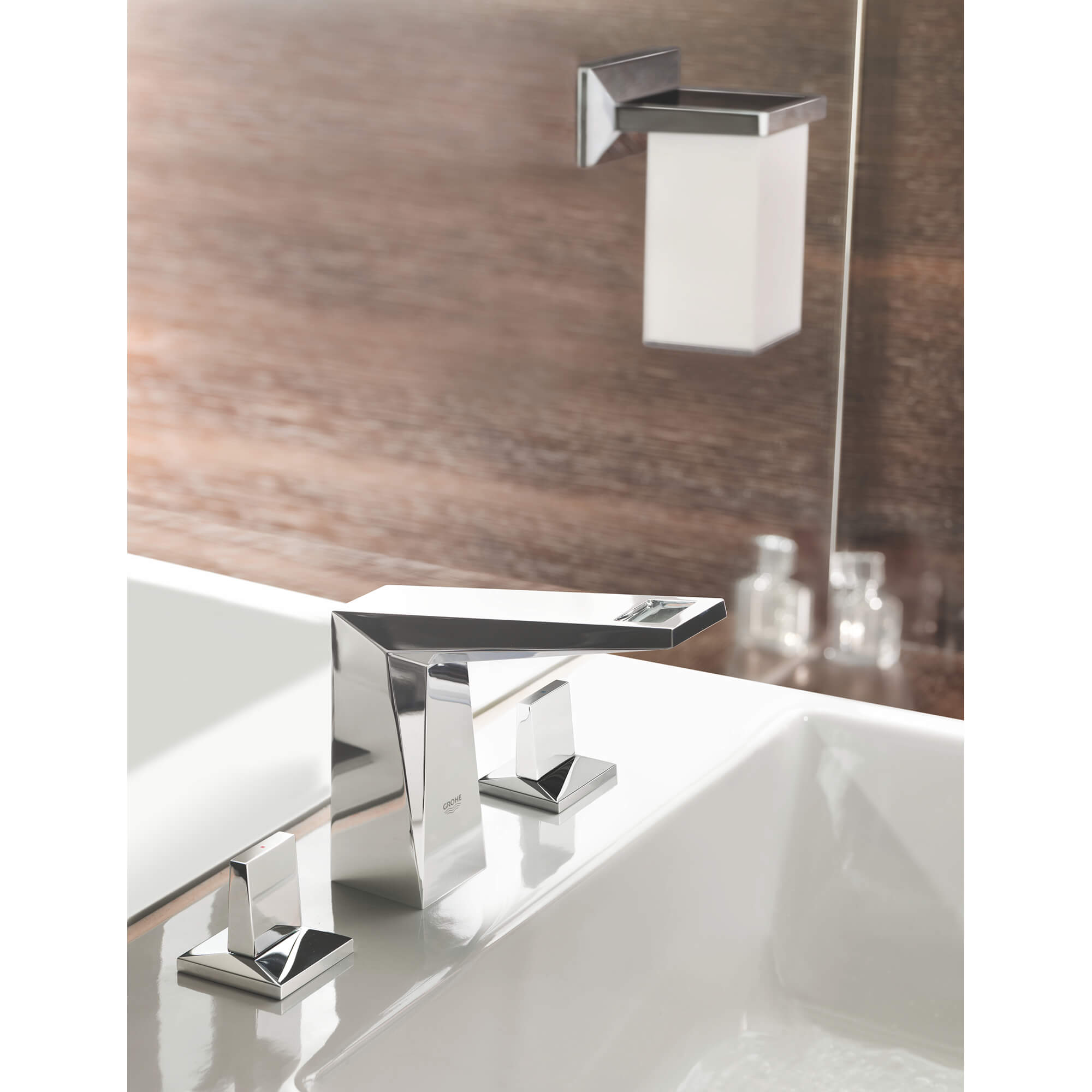 Toothbrush Holder with Tumbler GROHE CHROME
