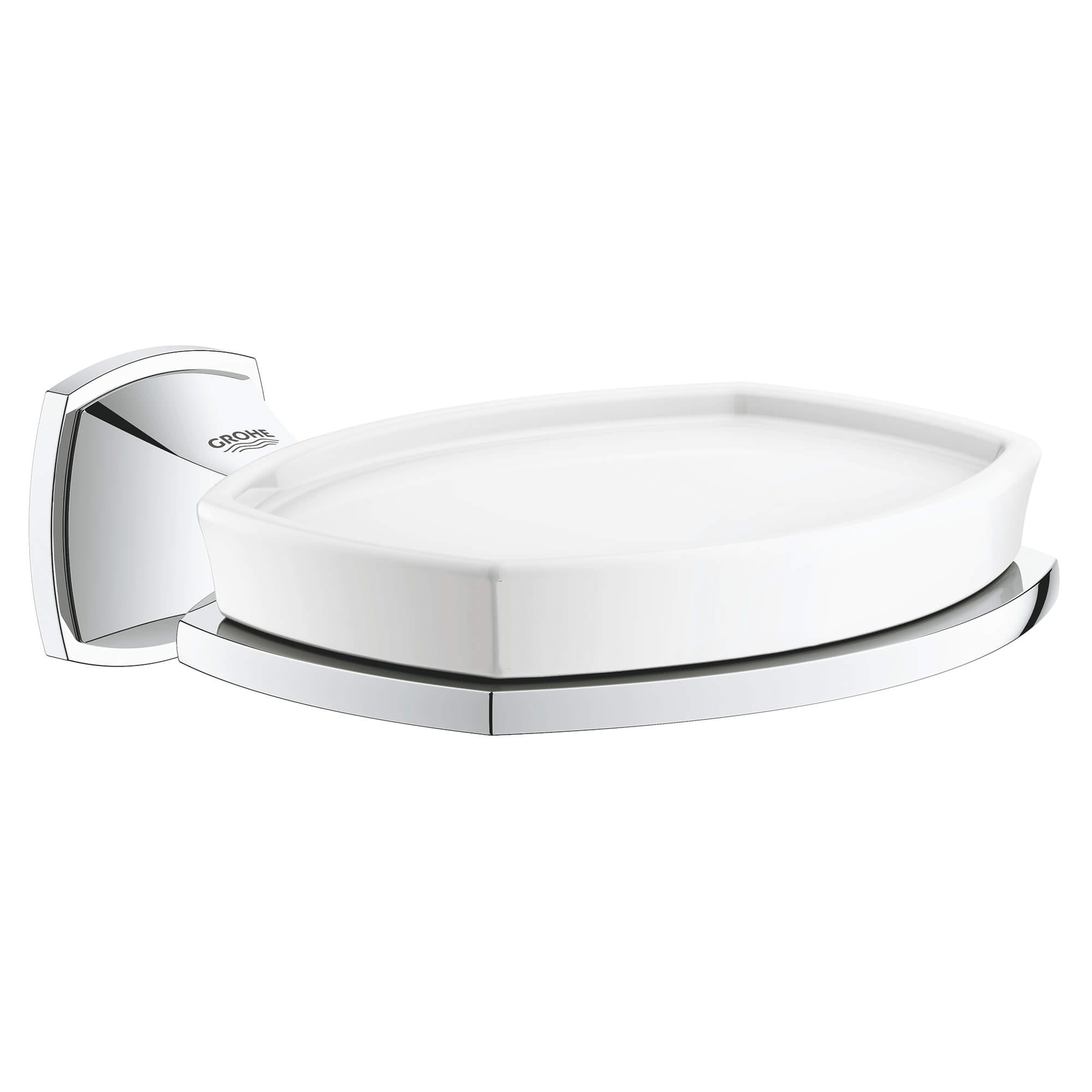 Ceramic Soap Dish with Holder GROHE CHROME