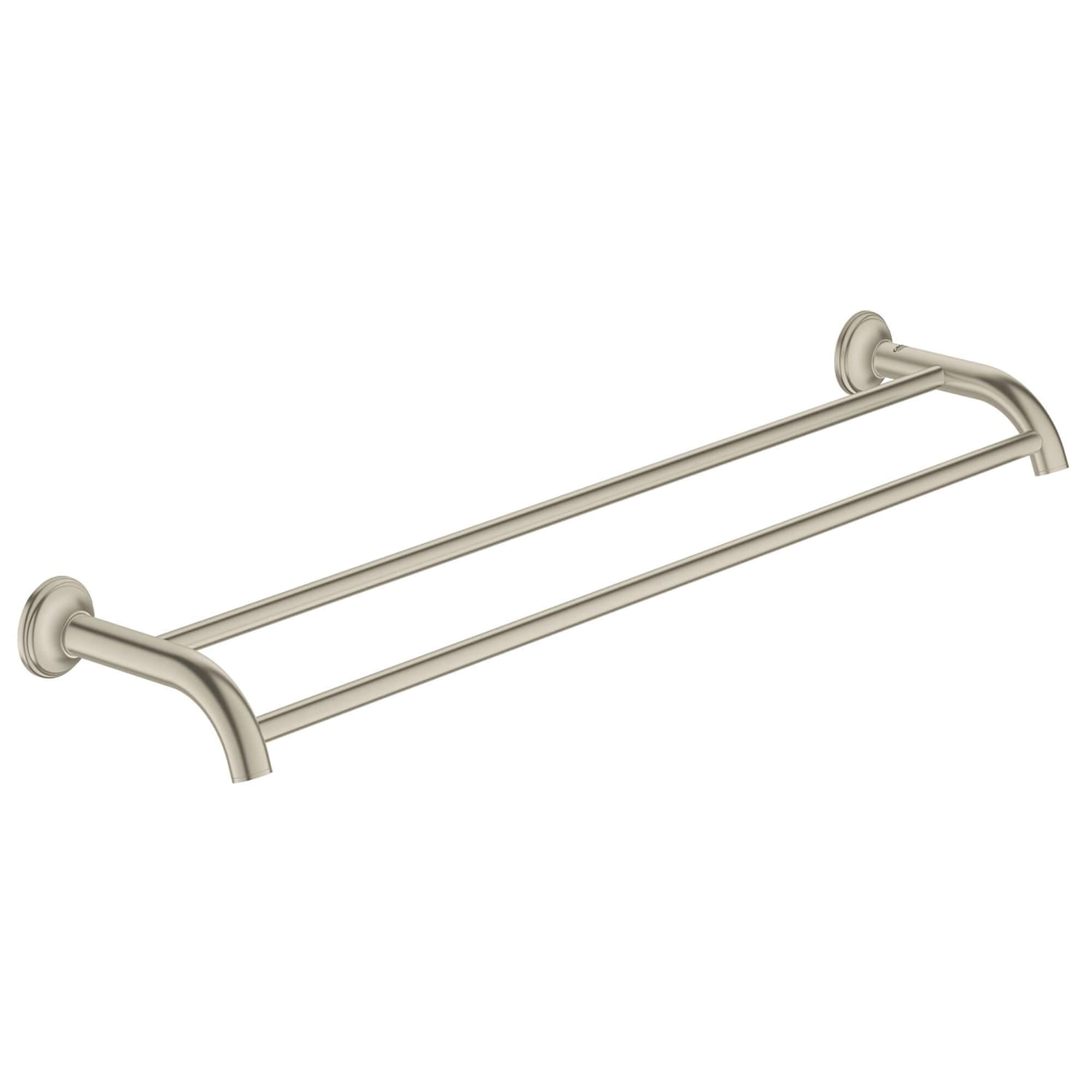 Double barre porte serviettes GROHE BRUSHED NICKEL