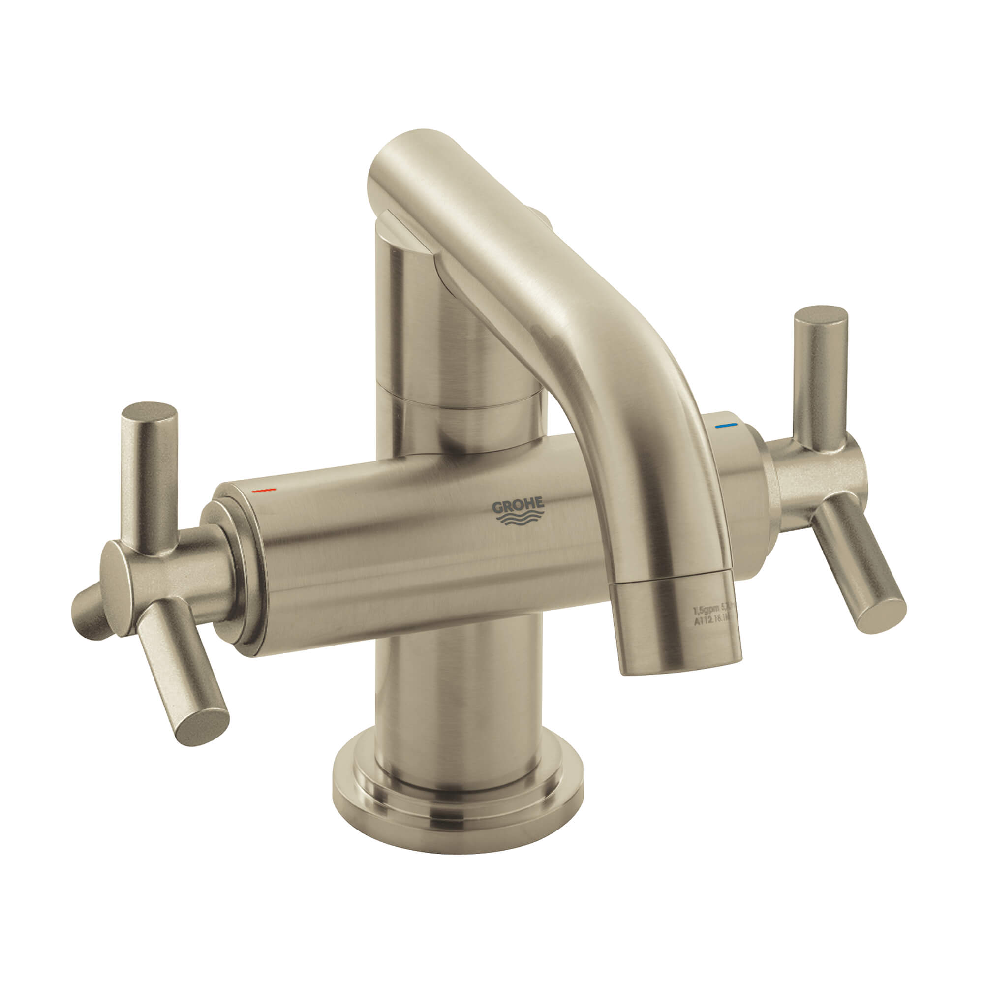 Lever Handles Pair GROHE BRUSHED NICKEL
