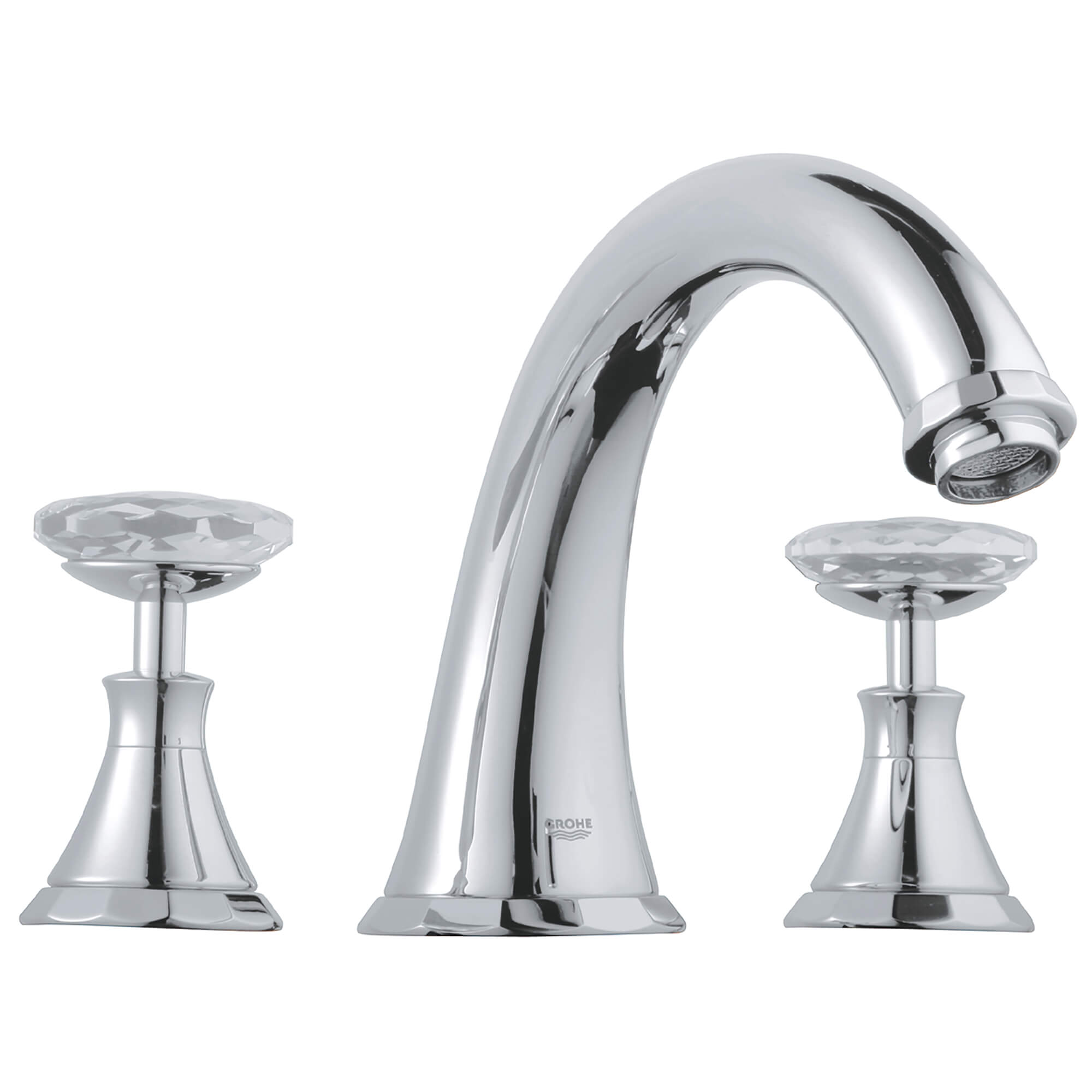 Handles Pair GROHE CHROME SWAROWSKI CRYSTAL