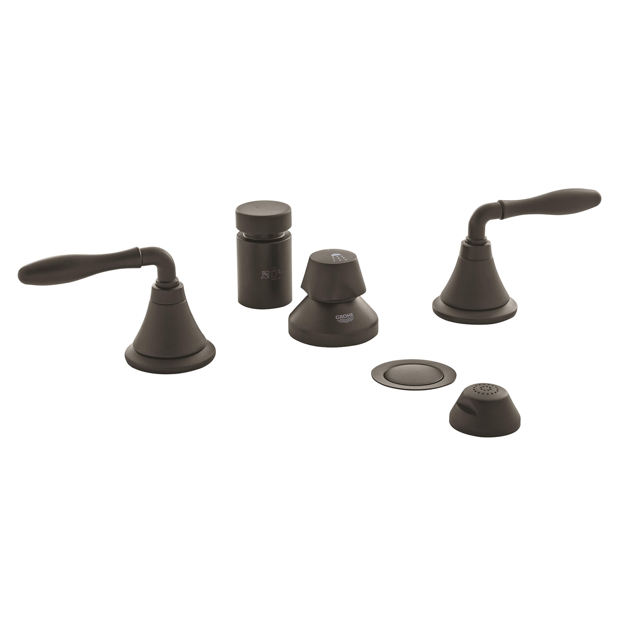 Lever Handles Pair GROHE OIL RUBBED BRONZE