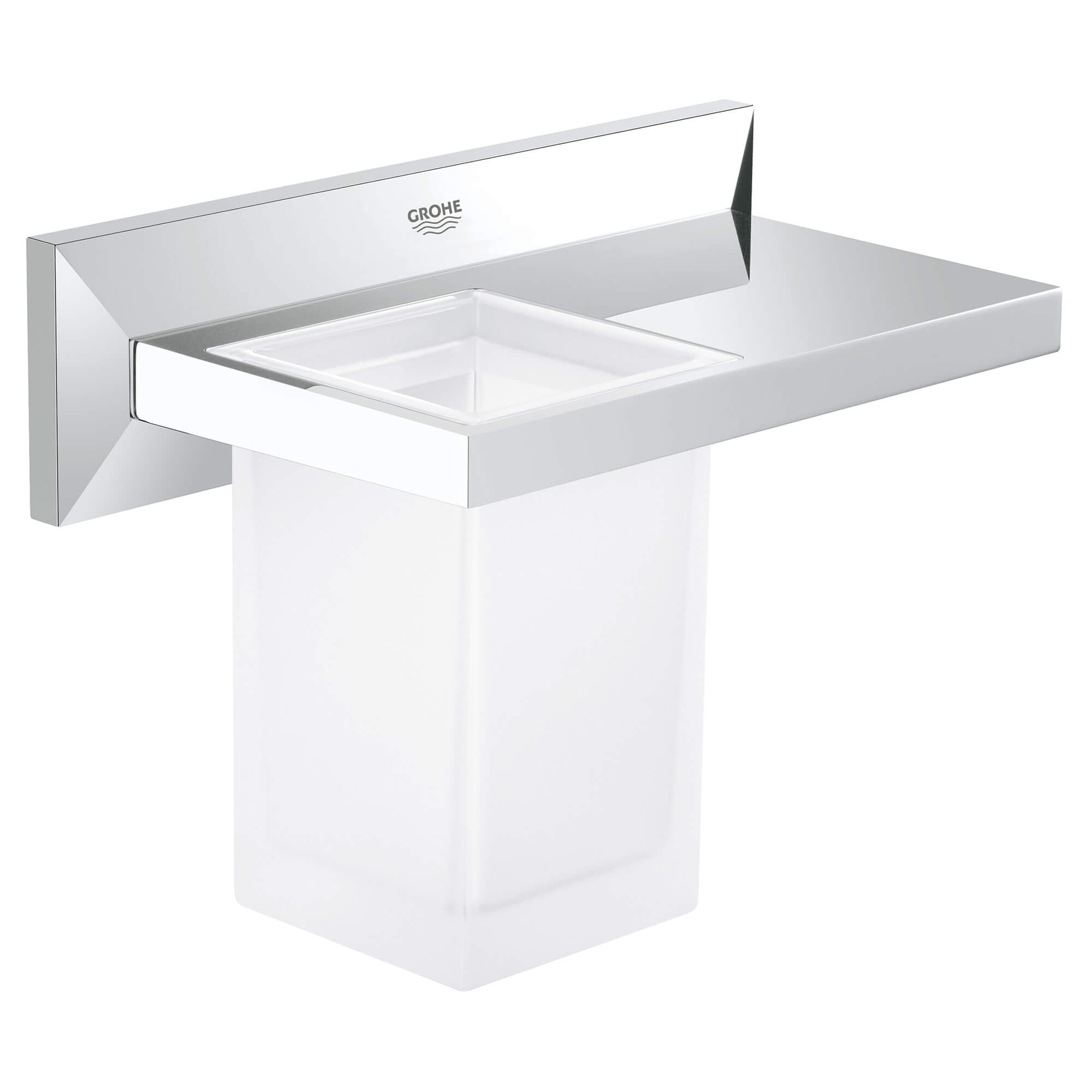 Bathroom Shelf with Tumbler GROHE CHROME