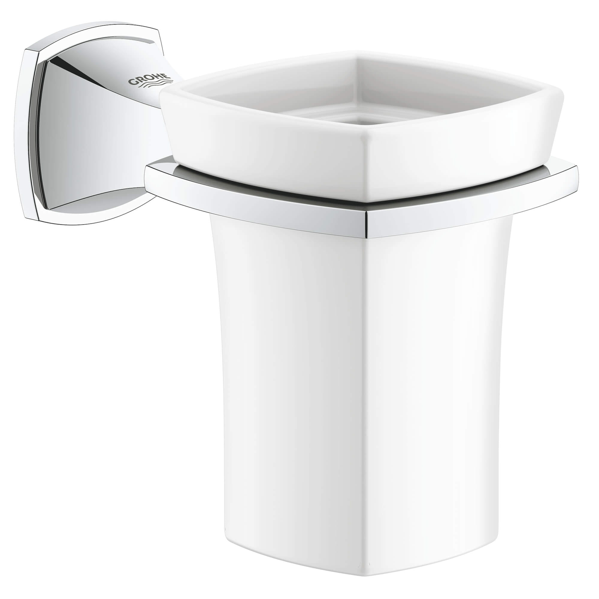 Ceramic Tumbler with Holder GROHE CHROME