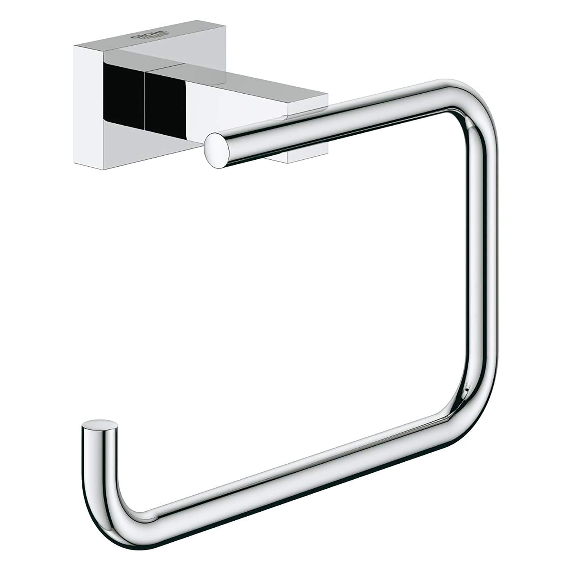Essentials Cube Toilet Paper Holder GROHE CHROME
