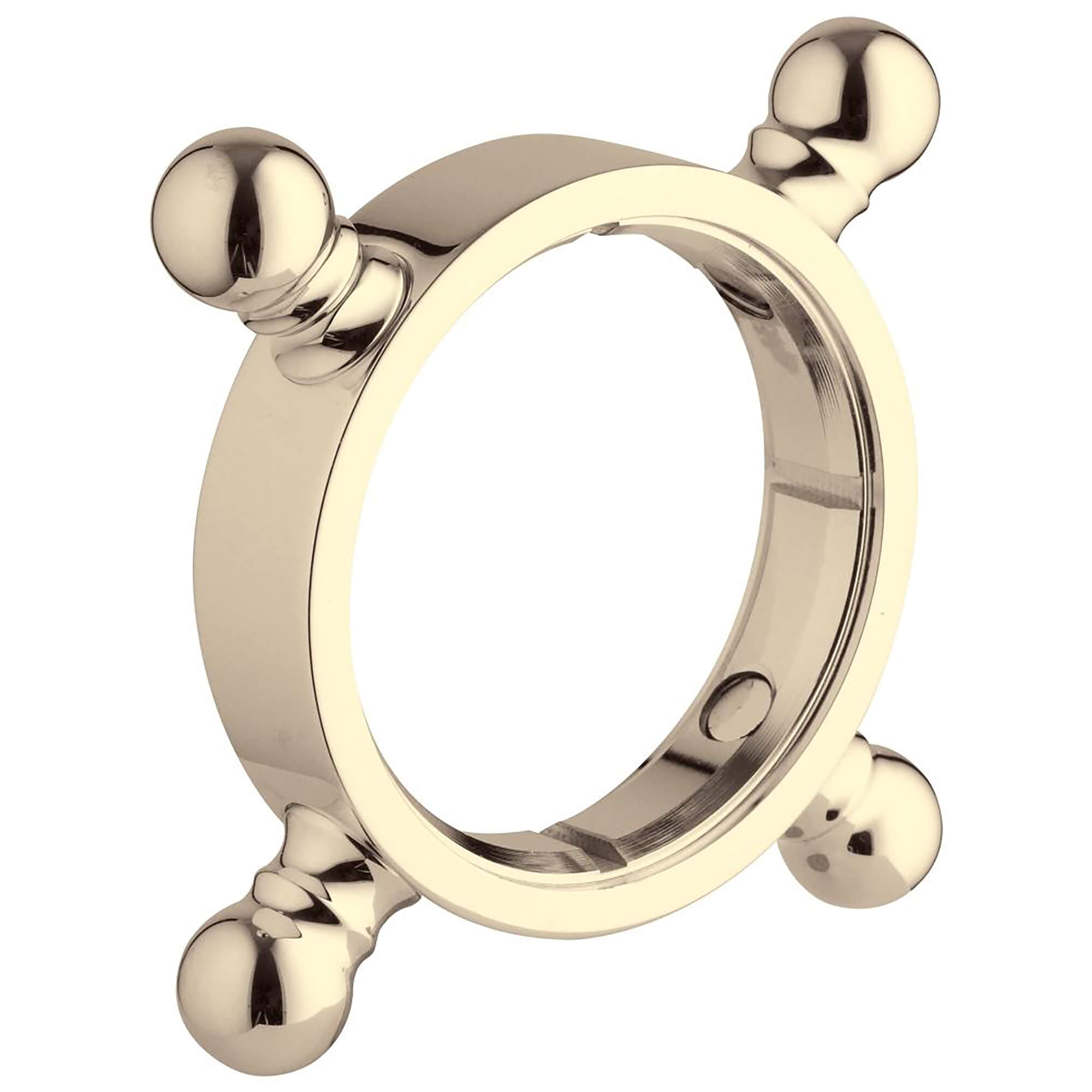 Decoration cross handle ring GROHE POLISHED BRASS