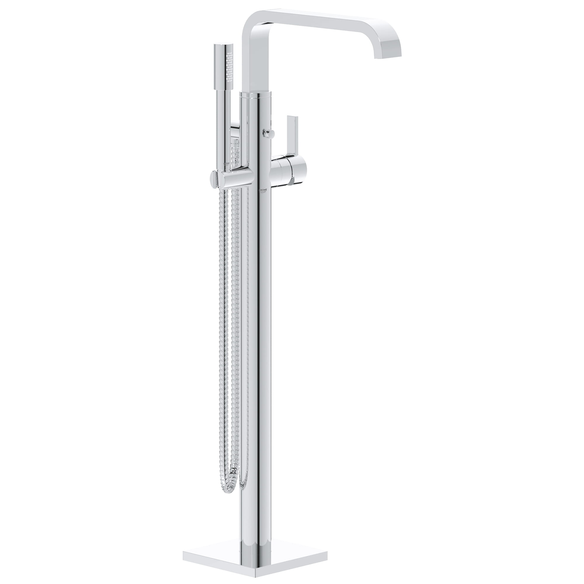 Single Handle Freestanding Tub Faucet With 1 75 Gpm Hand Shower