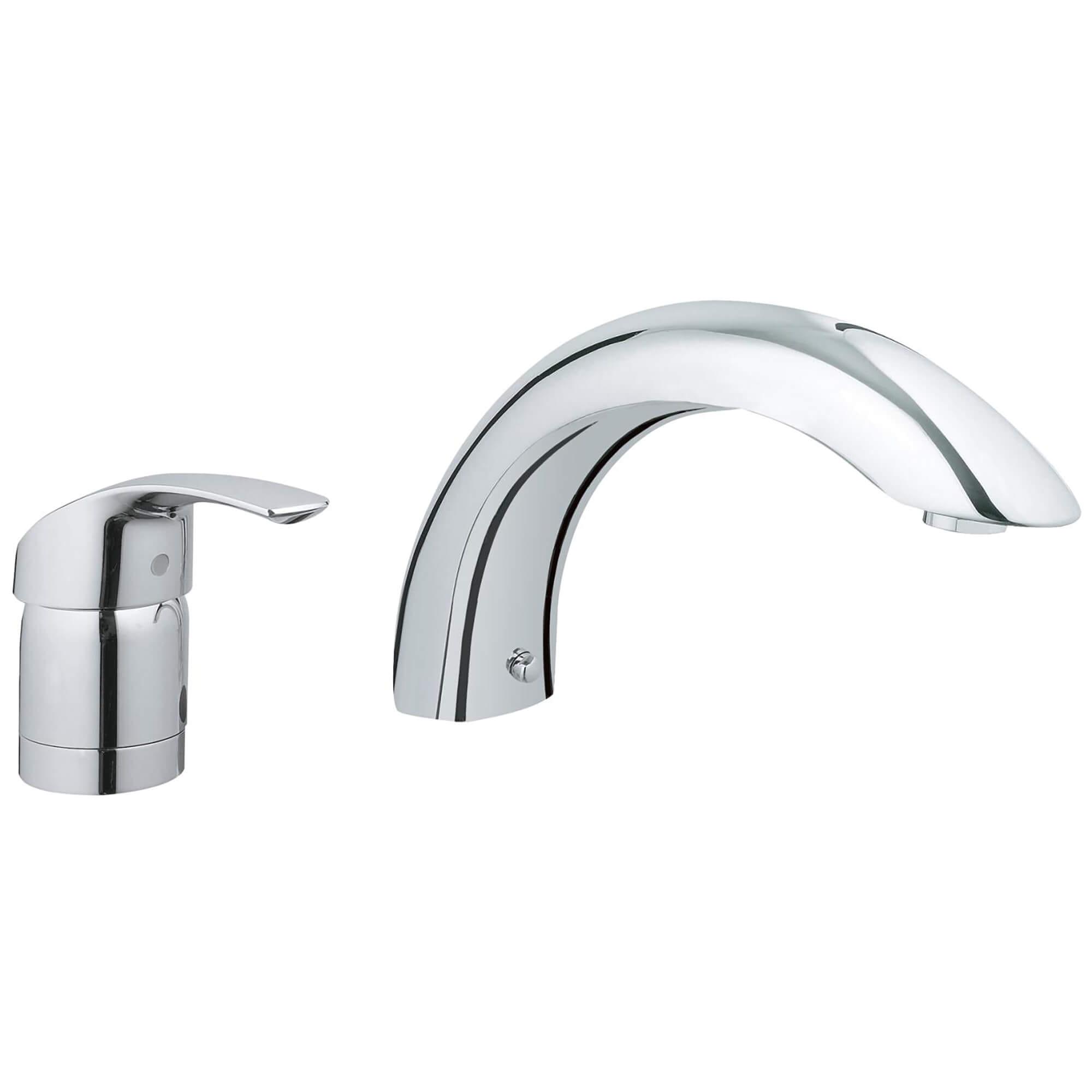 2 Hole Single Handle Deck Mount Roman Tub Faucet