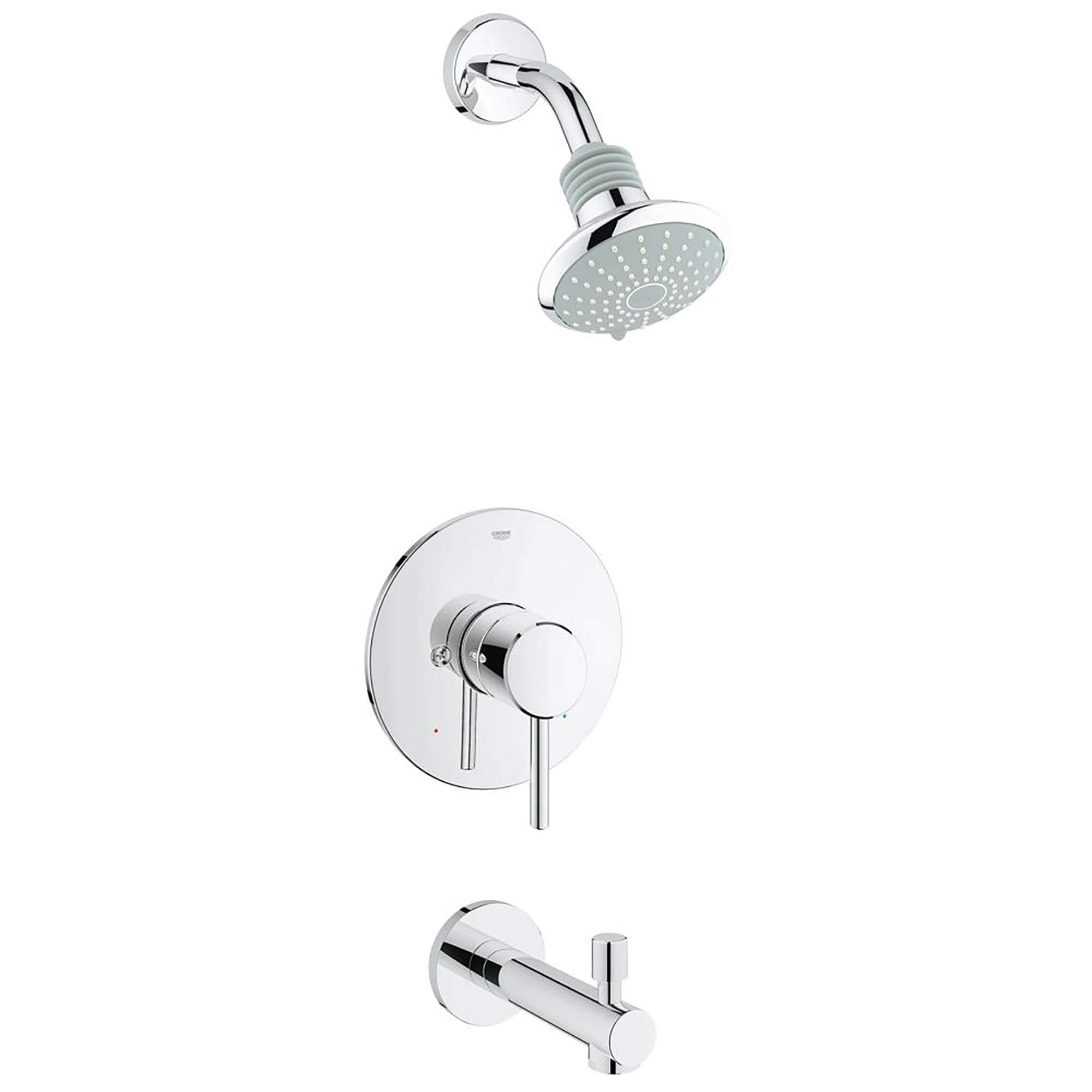 Single Handle Single Spray Tub And Shower Faucet Combination