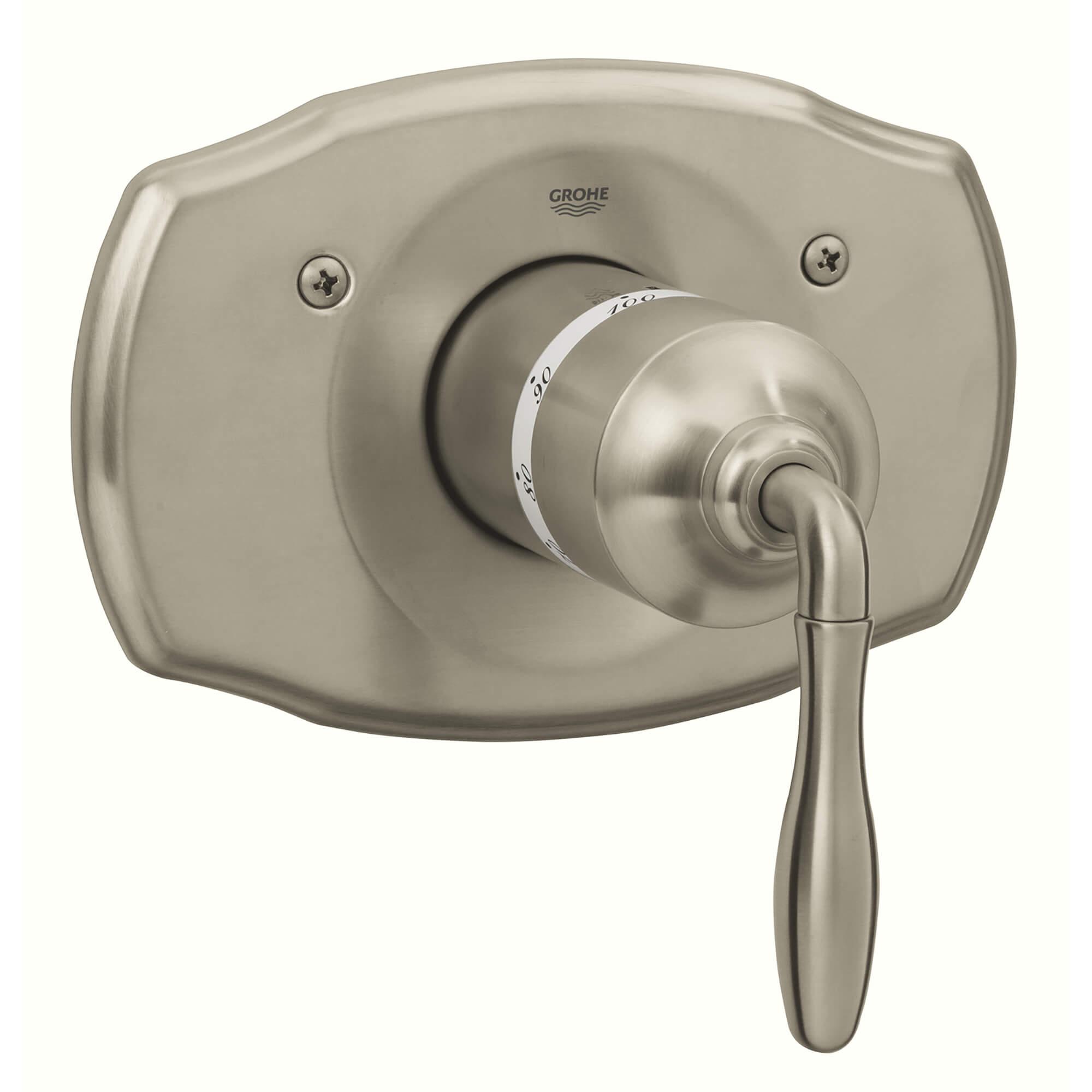 Central Thermostatic Valve Trim Grohe shower valve temperature adjustment