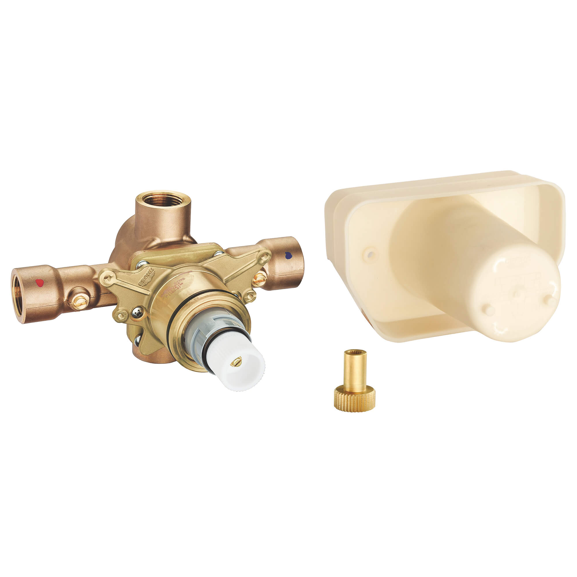 3 4 Thermostatic Rough In Valve Grohe shower valve temperature adjustment