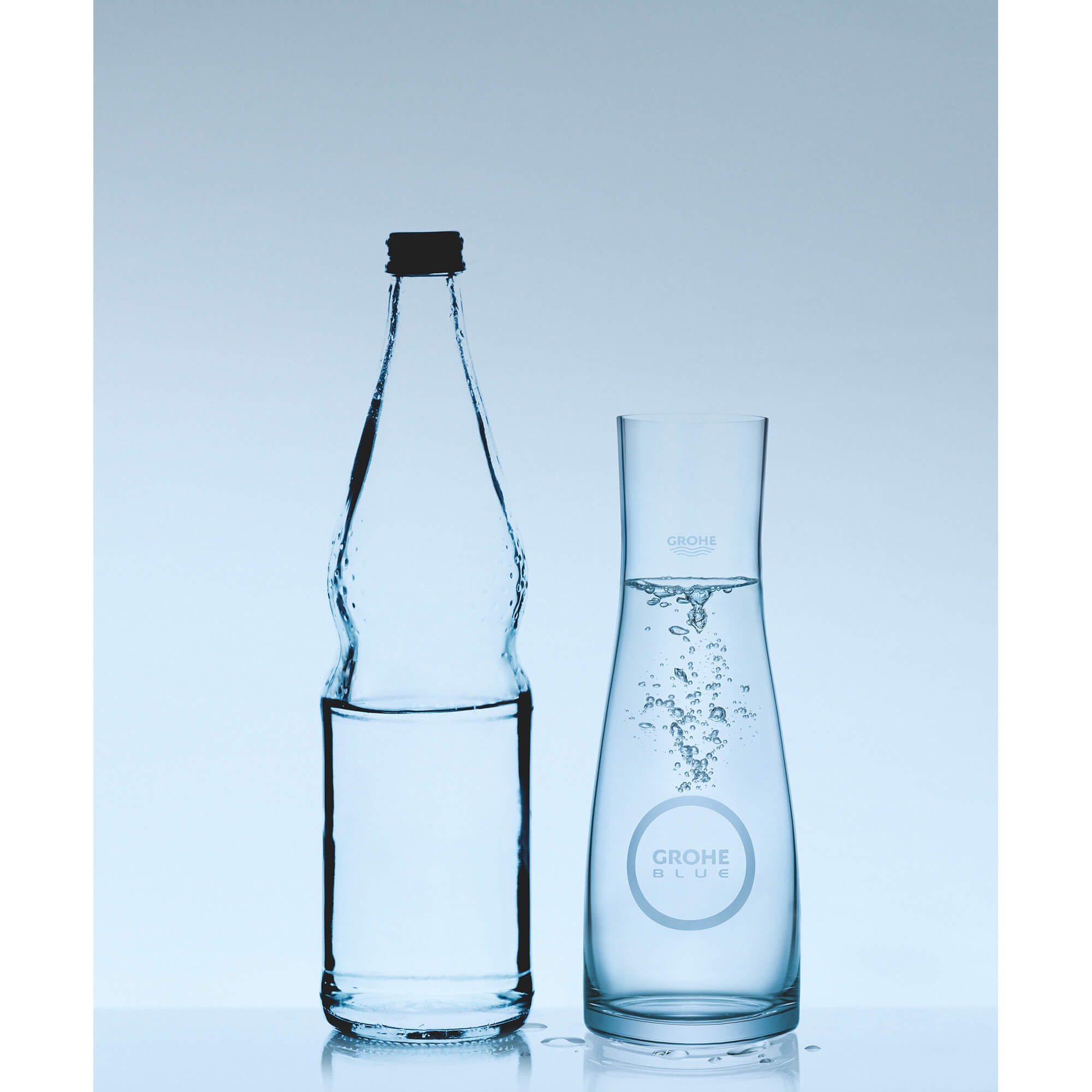 GROHE Blue Glass Carafe GROHE CHROME