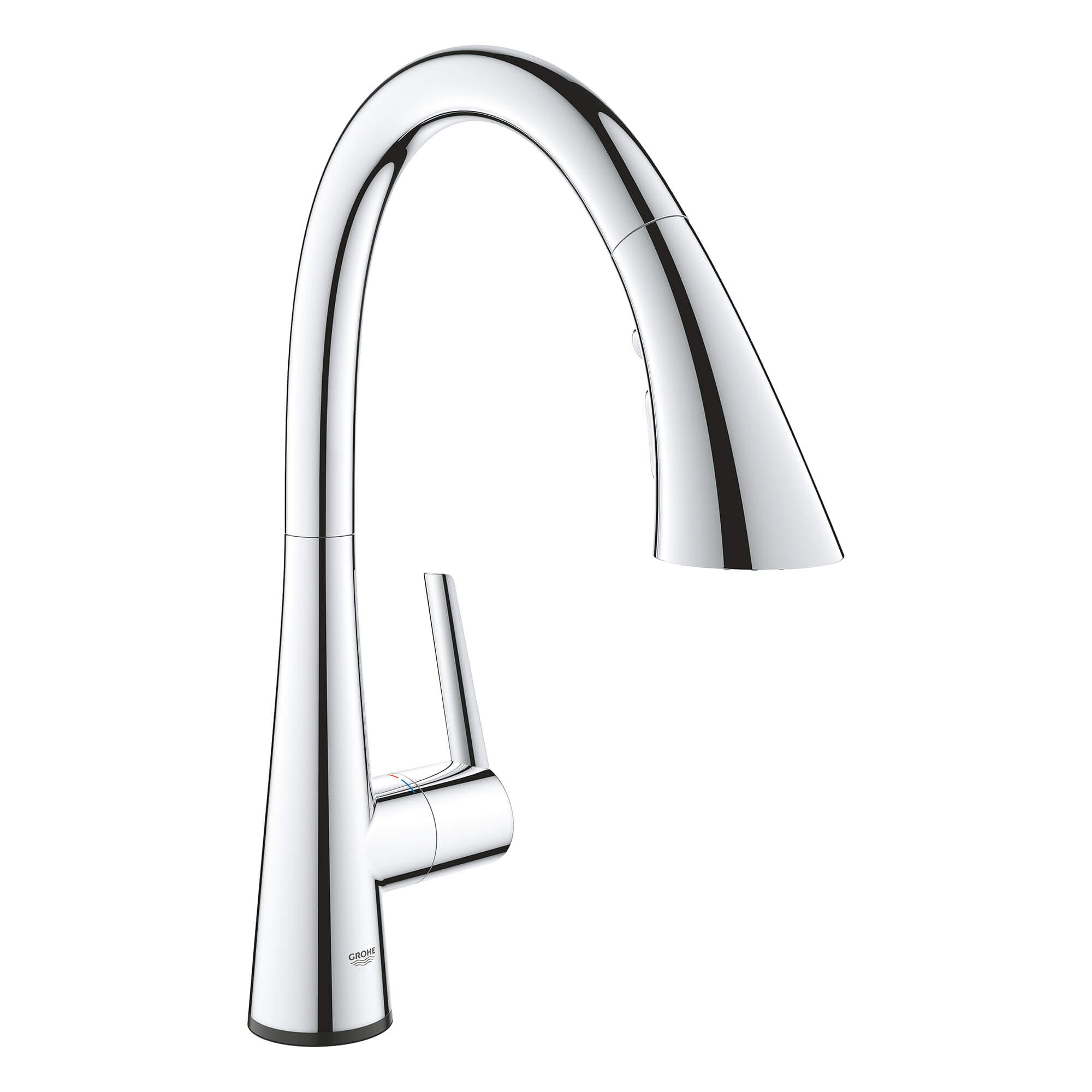 Single Handle Pull Down Kitchen Faucet Triple Spray 1 75 Gpm With Touch Technology