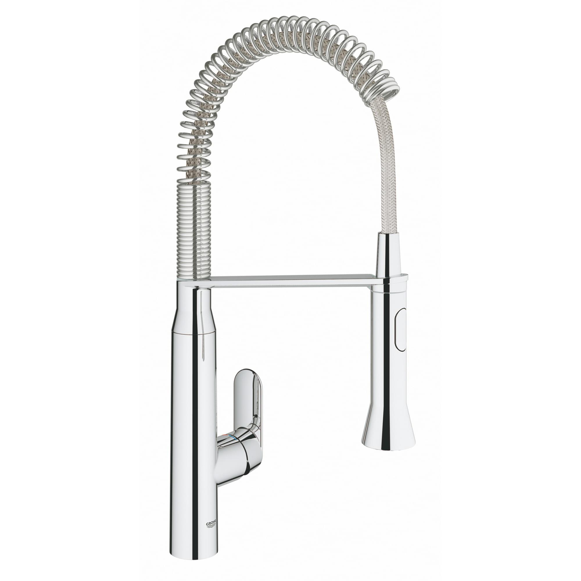 K7 Medium Single Handle Semi Pro Dual Spray Kitchen Faucet 1 75 Gpm