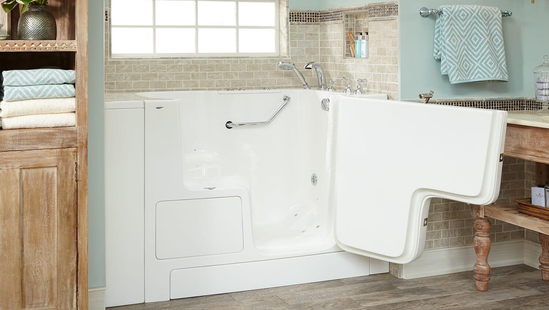 gelcoat walk in tub in white