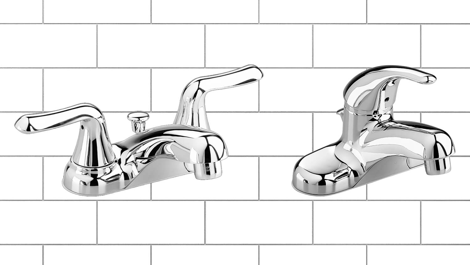 colony soft bathroom faucets white background