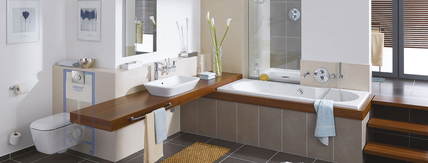 bathroom with wall-plate showing