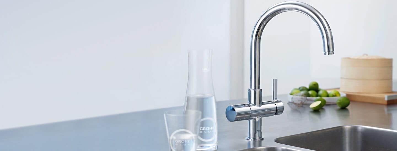 Grohe Blue robinet avec Grohe verre d'eau