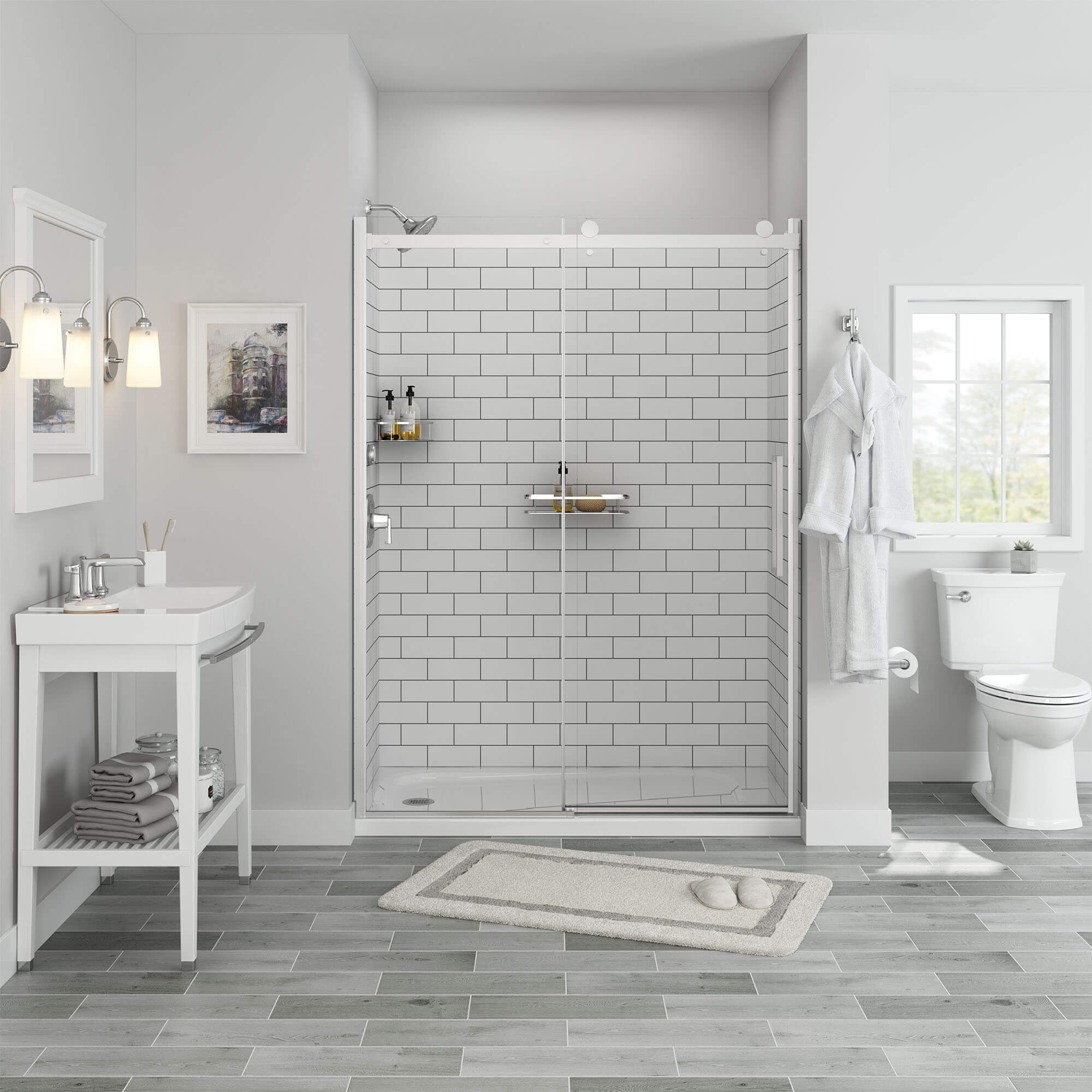 passage shower walls
