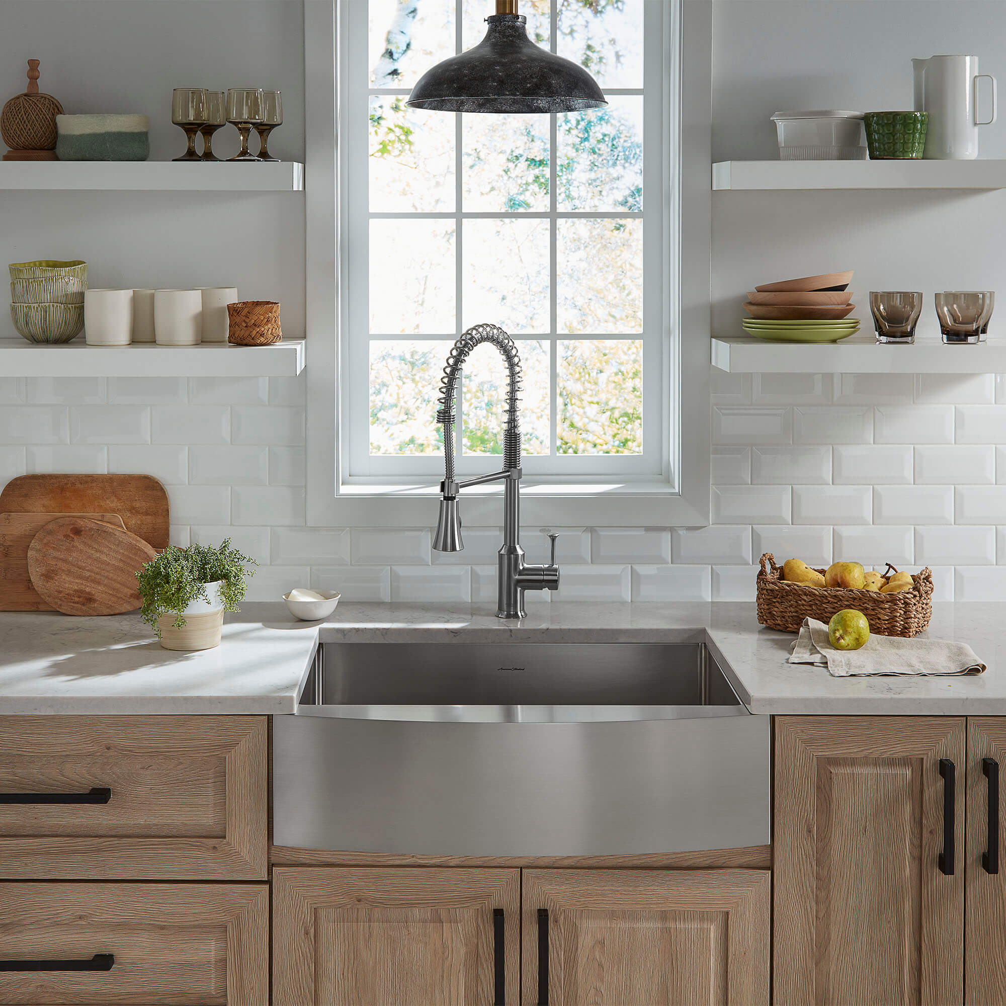 pekoe apron front sink