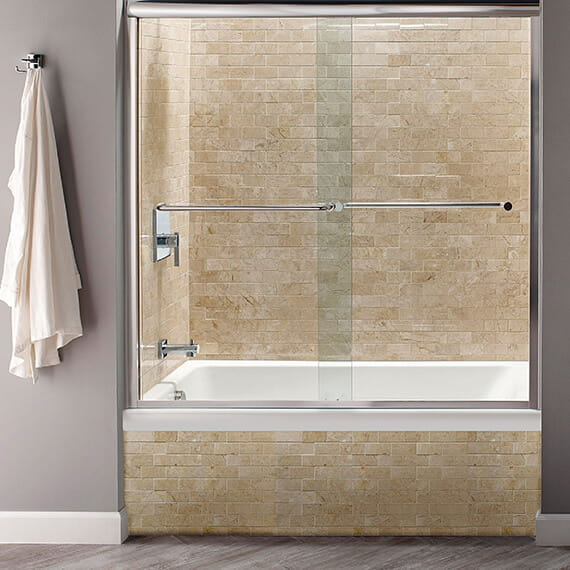 Studio 60 x 32 Inch Bathtub with Fold Over Edge - Left Drain