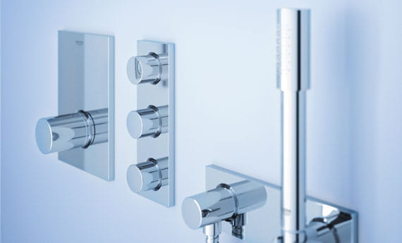 shower controls with handheld shower