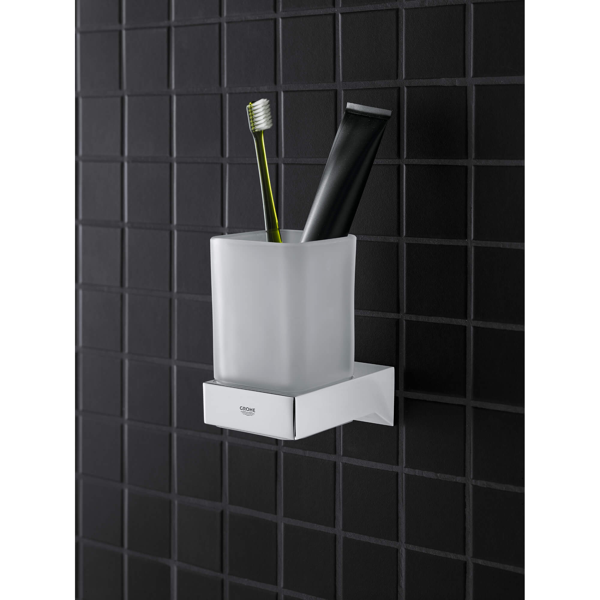 Selection cube toothbrush cup holder wall mount.