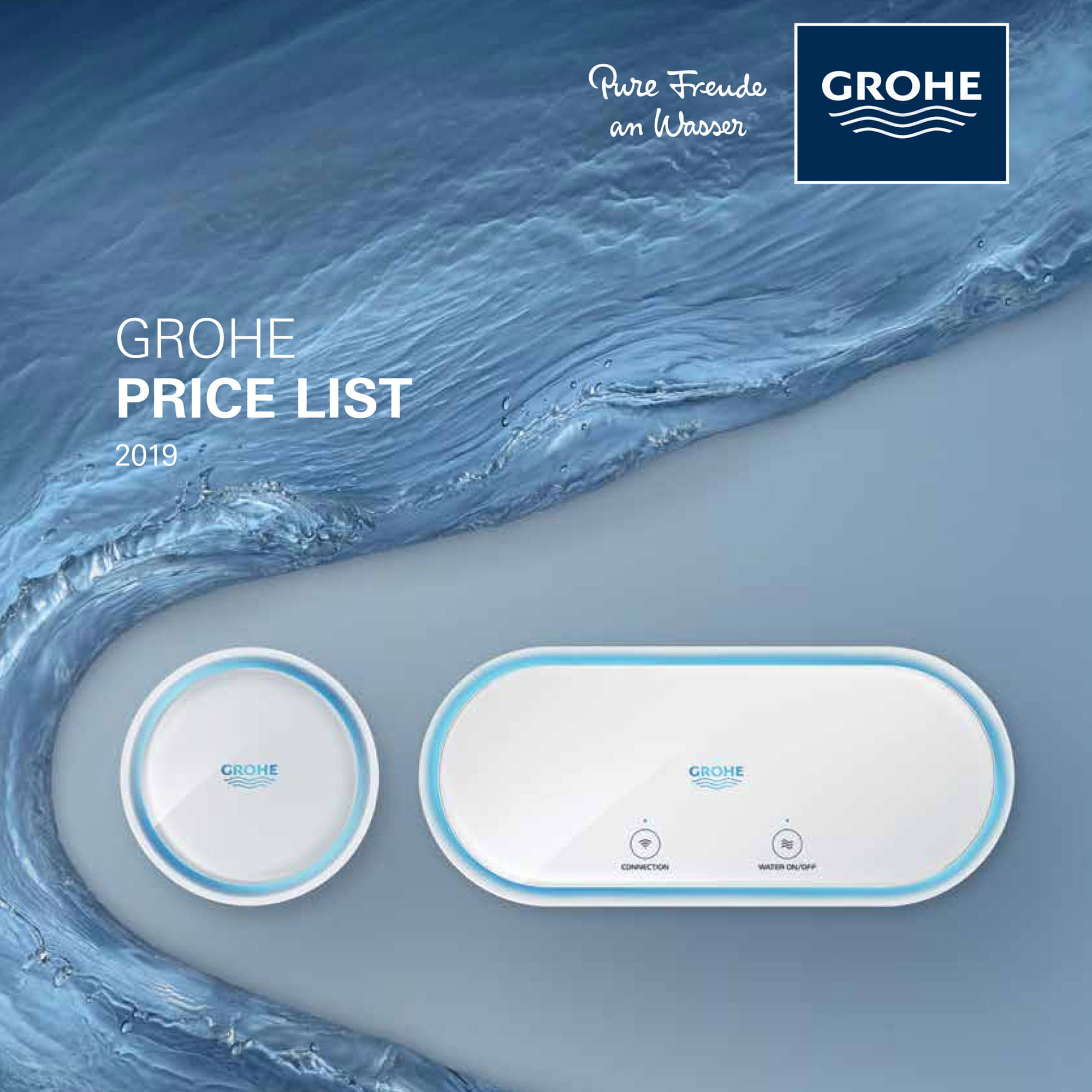GROHE Sense surrounded by water