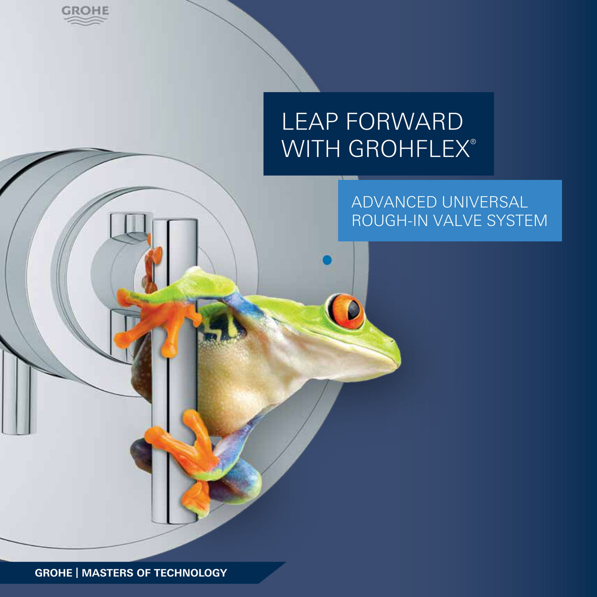 shower control with frog on it
