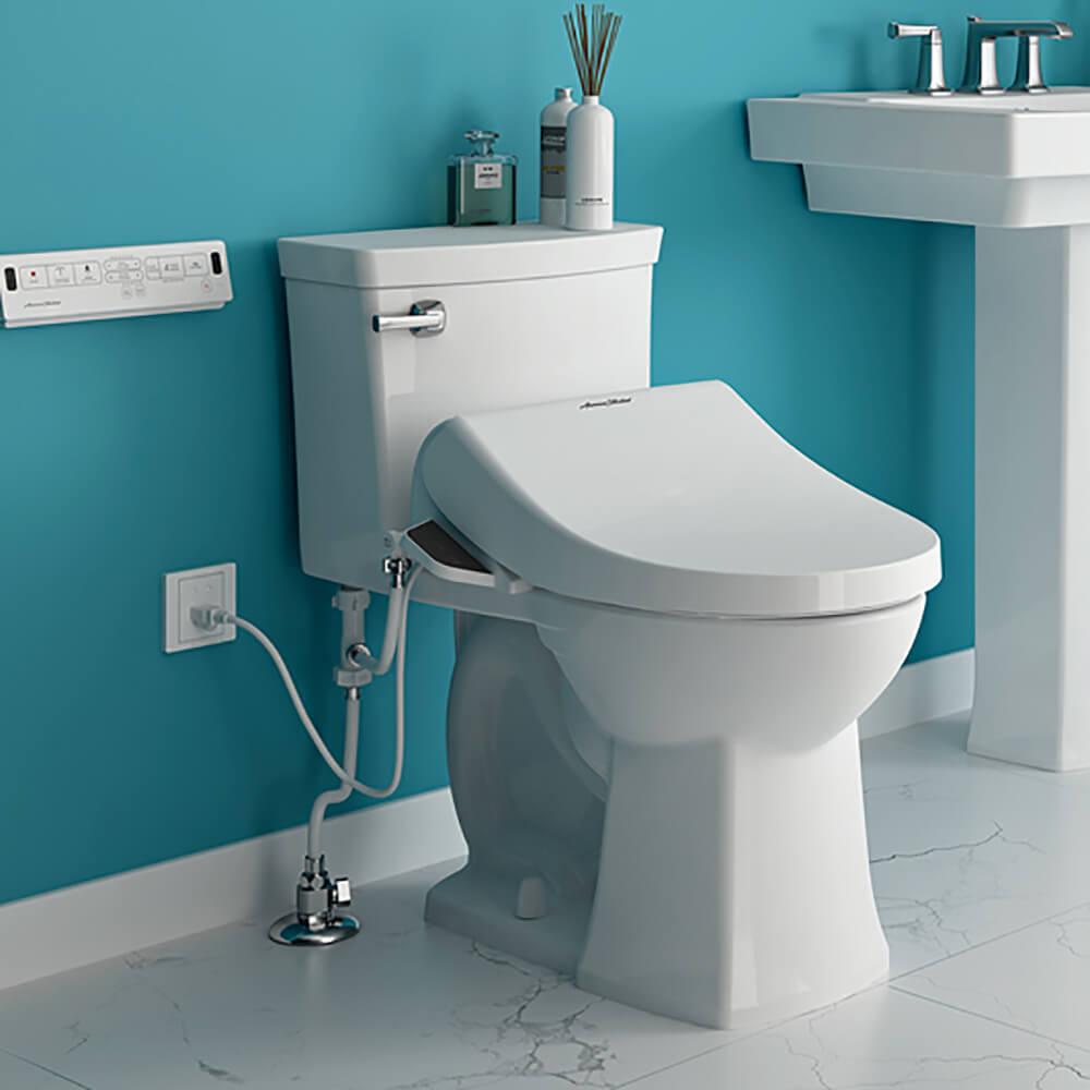 Advanced Clean Spalet Bidet Seat installed on toilet