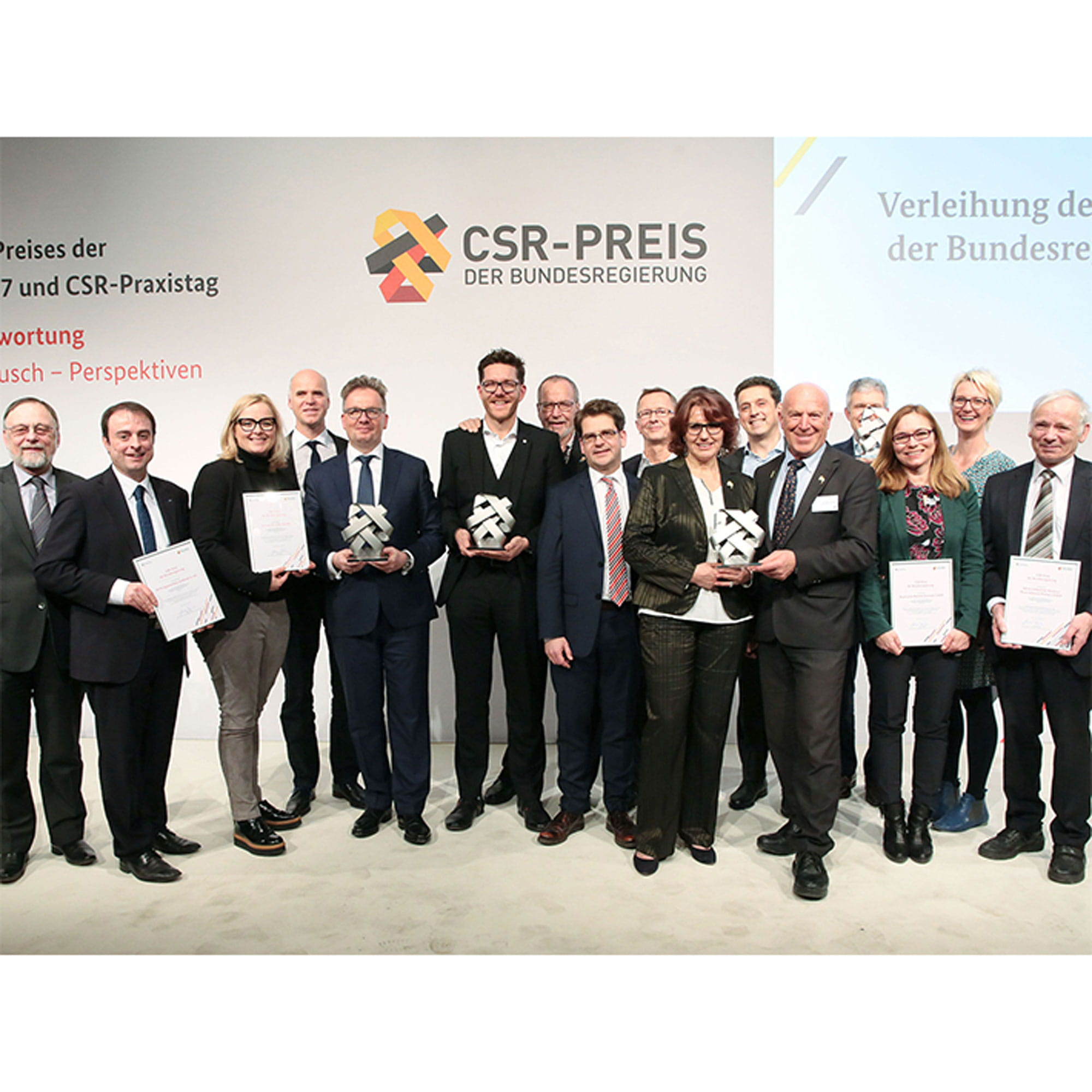 workers with CSR awards