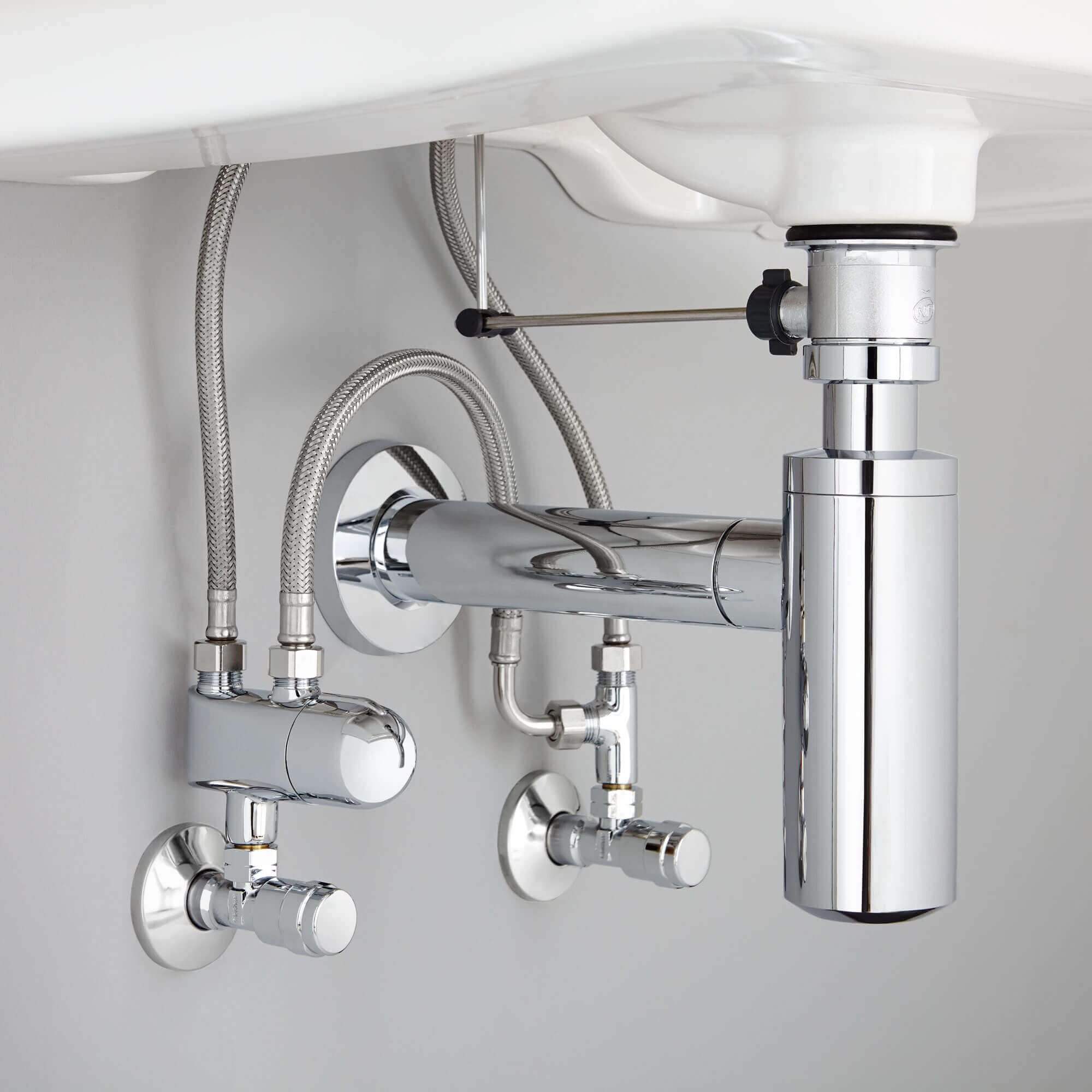 GROHE Grohtherm Micro Thermostat - under the sink view