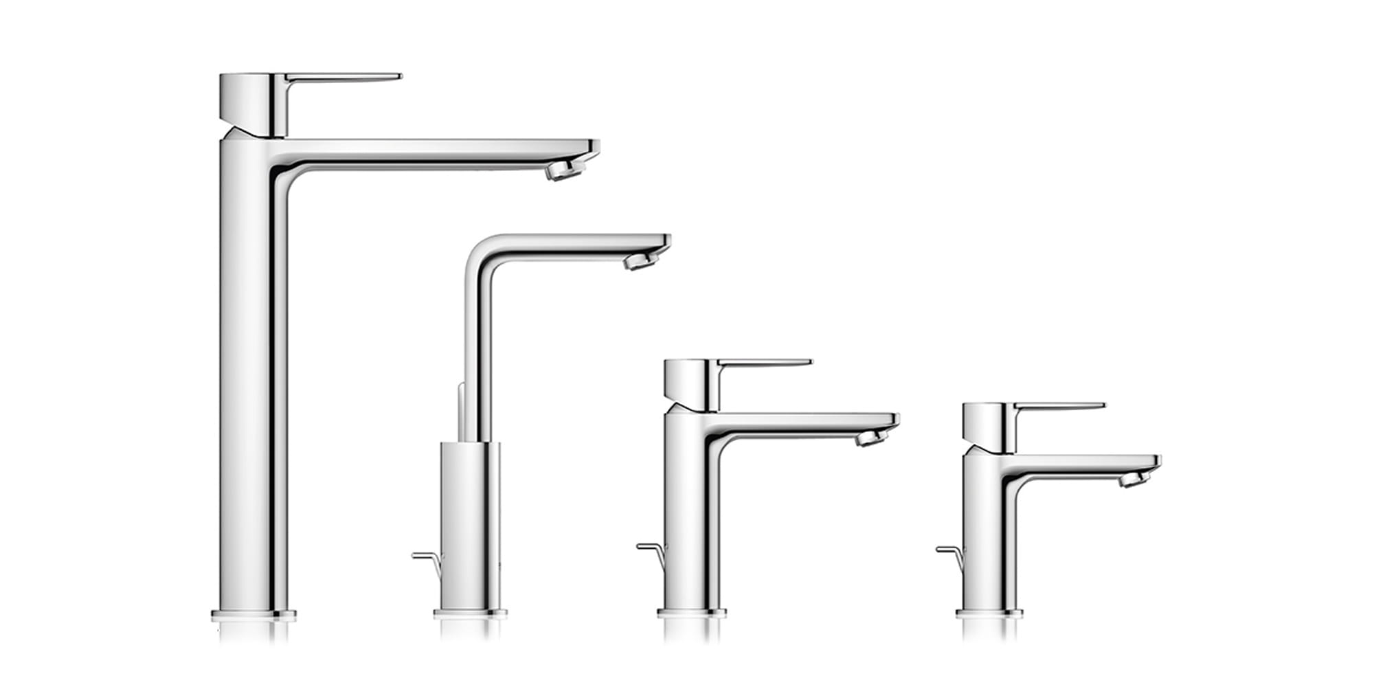 GROHE Lineare Faucet Sizes