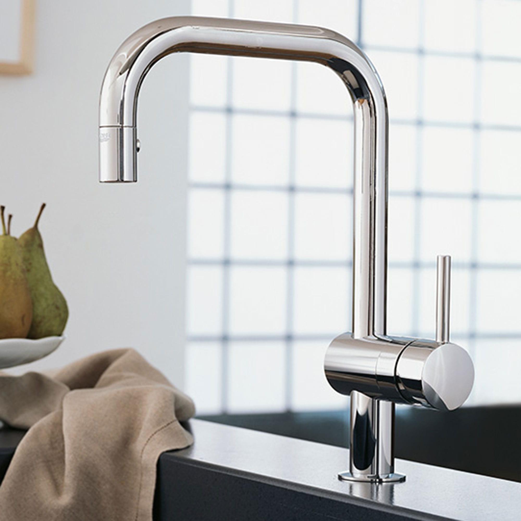kitchen faucet built into ledge