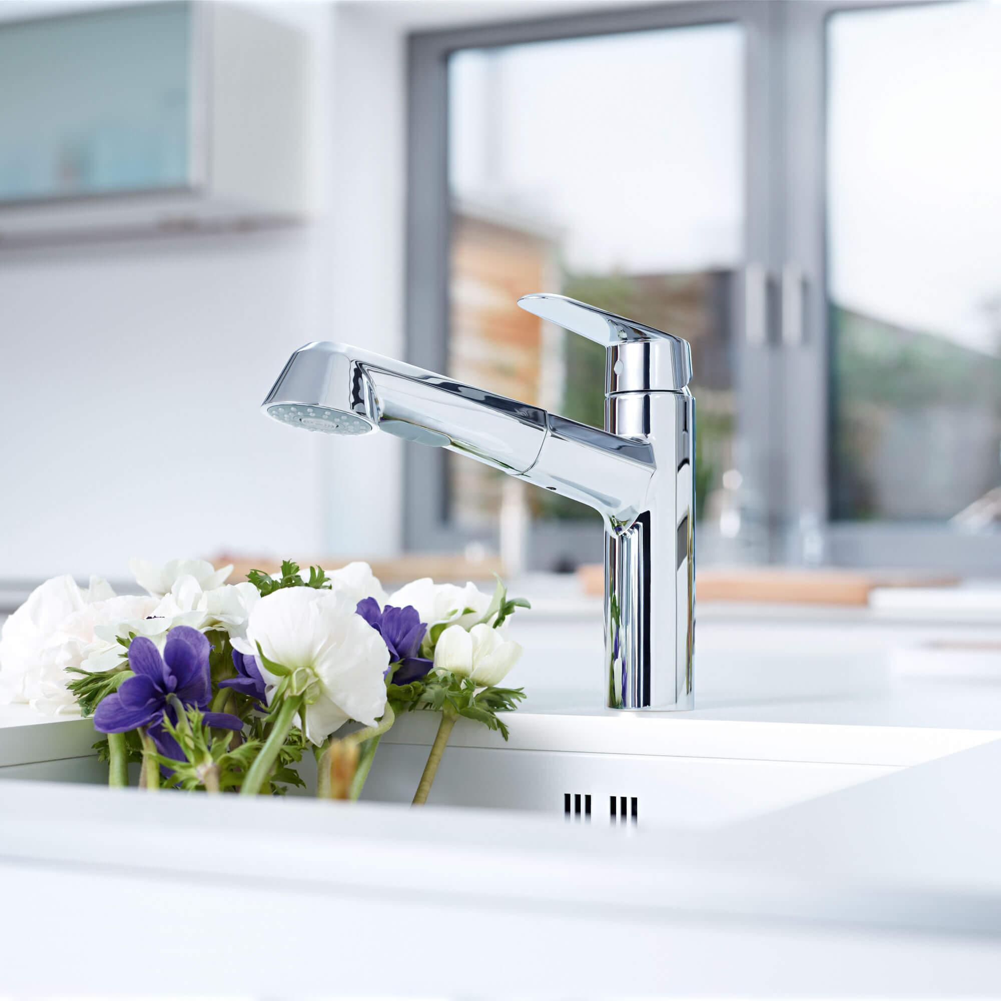 GROHE Eurodisc Cosmopolitan kitchen faucet