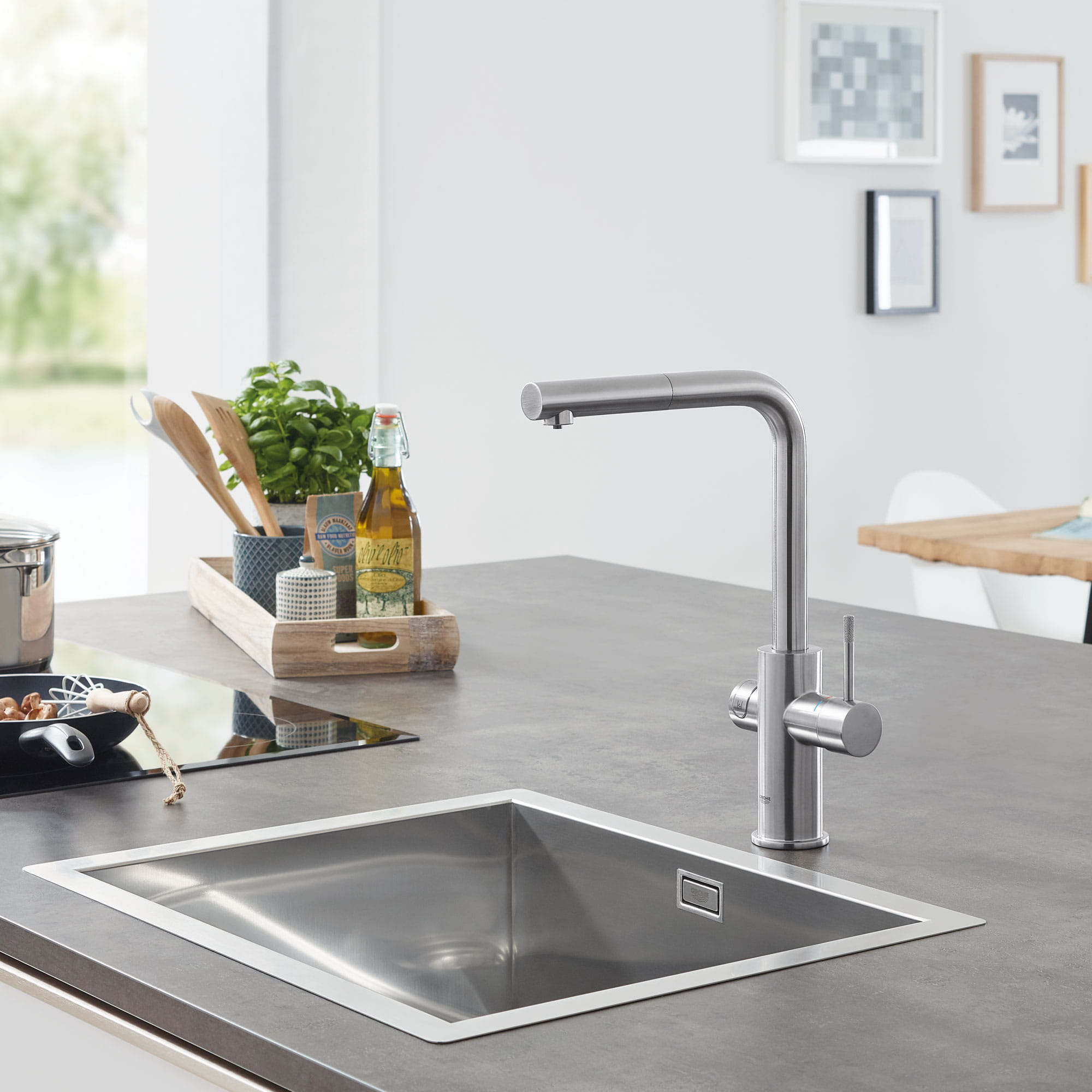 GROHE Blue Chilled & Sparkling Filtered Water Faucet