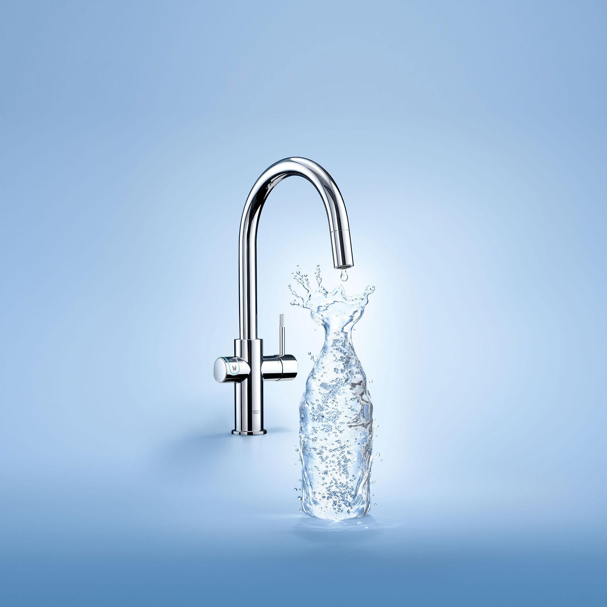 GROHE Blue Chilled & Sparkling robinet de cuisine avec boite d'eau