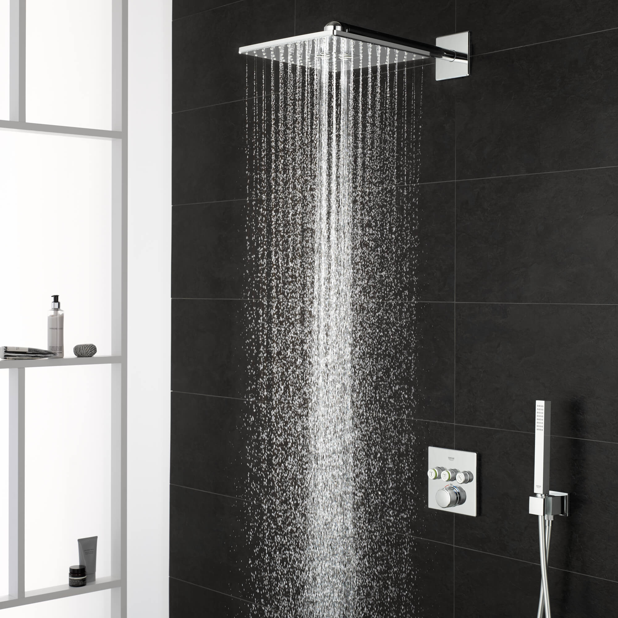 Grohe Concealed Shower with Water on