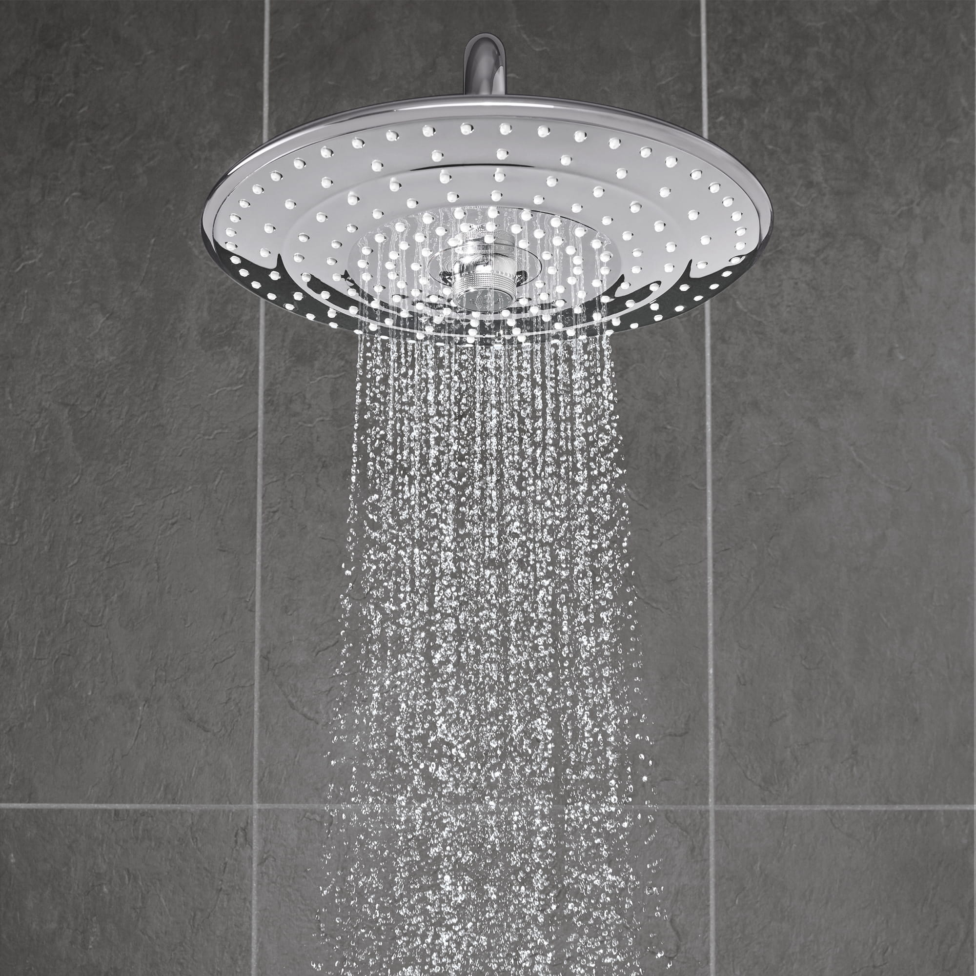 Shower head displaying  Jet spray.