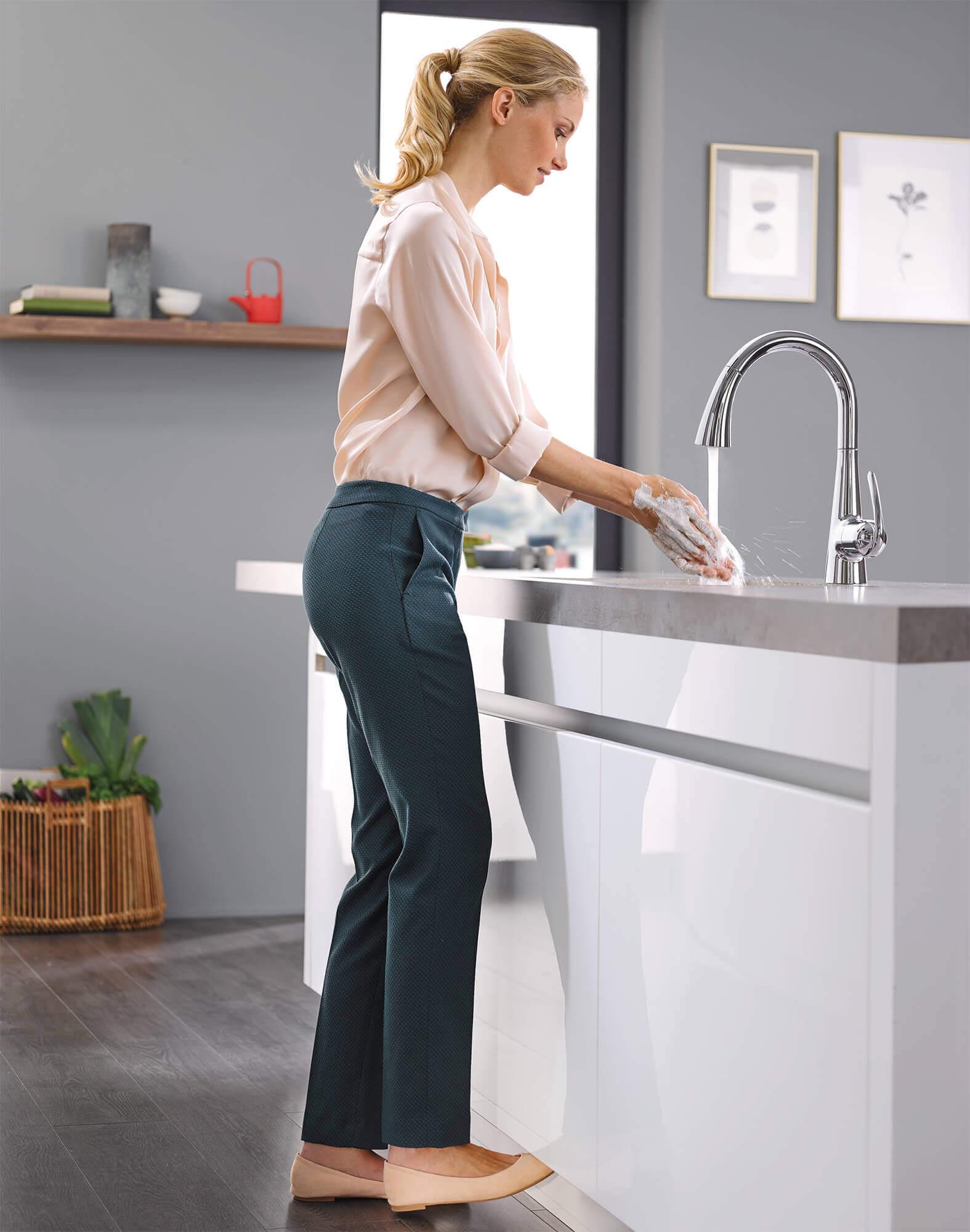 Foot Control Kitchen Faucet
