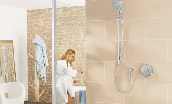 Grohe Power Soul Bathroom Shower, woman in background