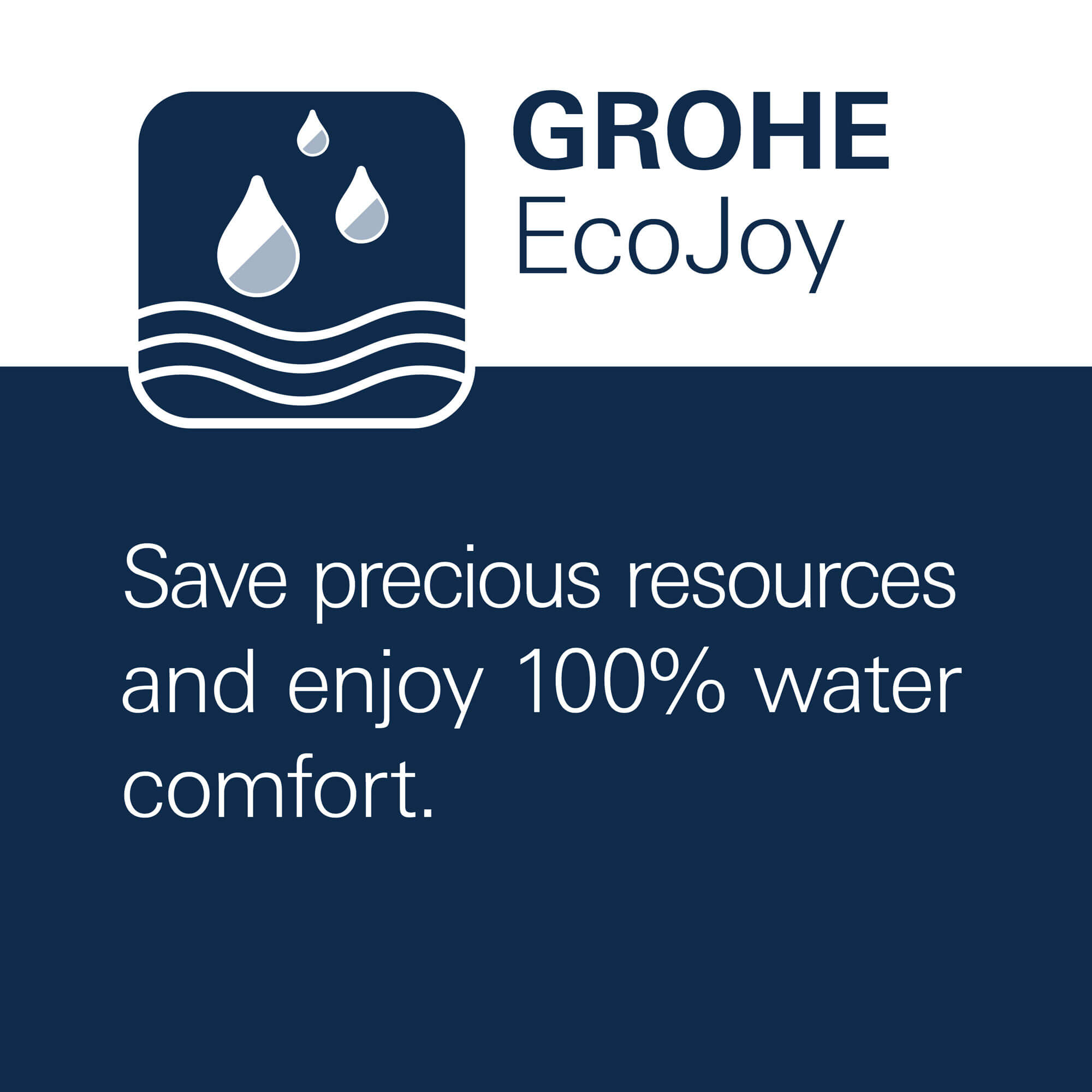 GROHE EcoJoy - Save precious resources and enjoy 100% water comfort.