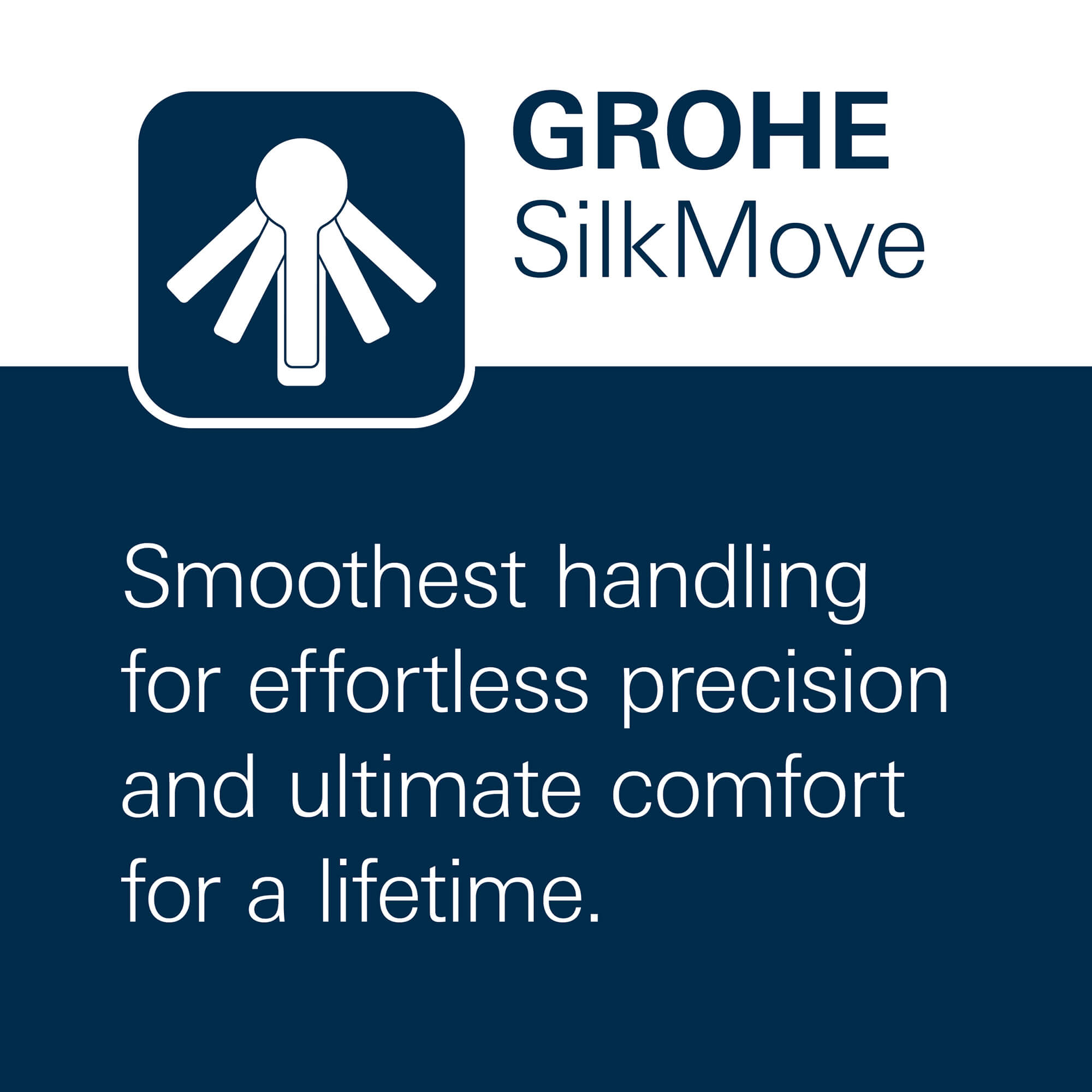 GROHE Silkmove - Smoothest handling for effortless precision and ultimate comfort for a lifetime.