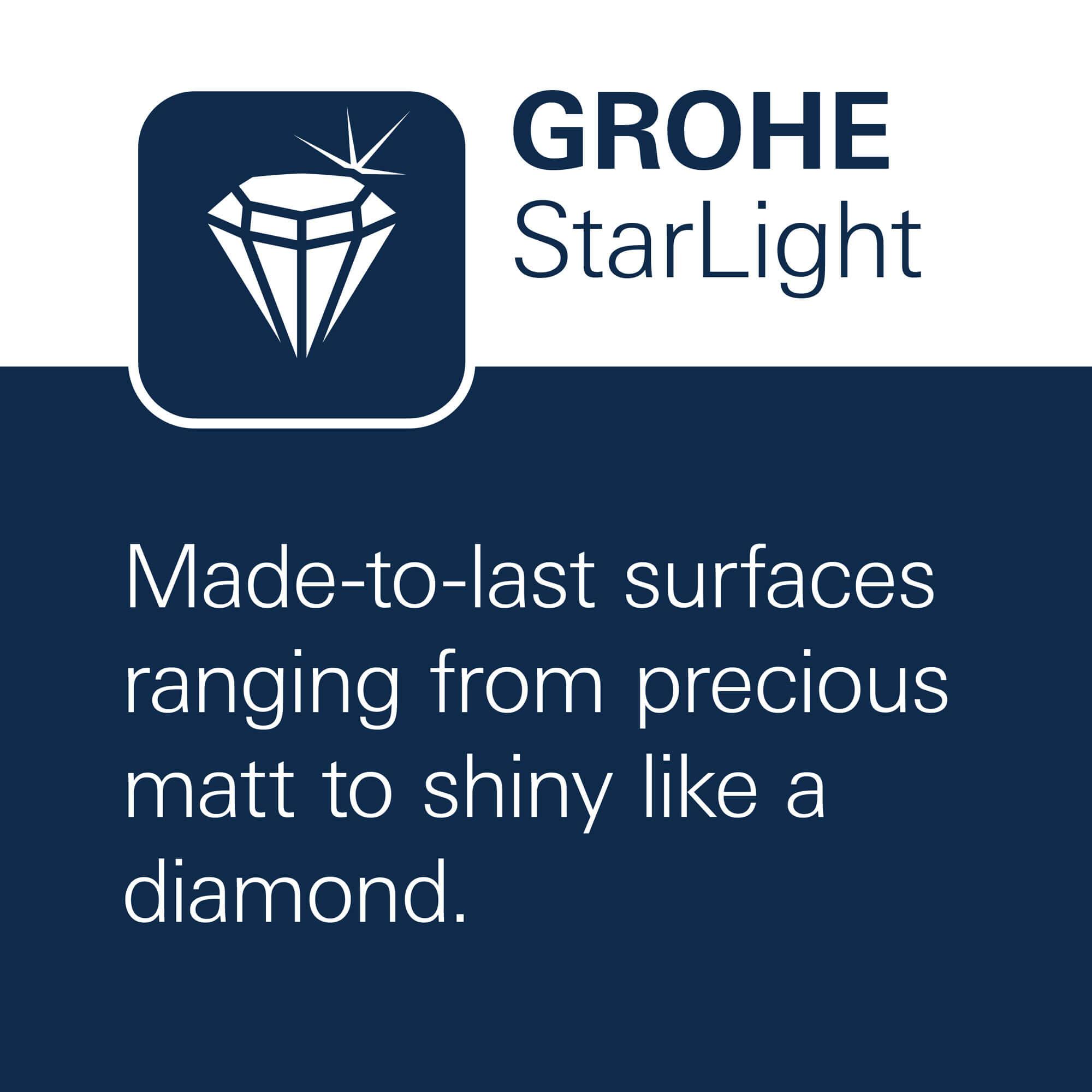 GROHE StarLight - Made-to-last surfaces ranging from precious matt to shiny like a diamond.